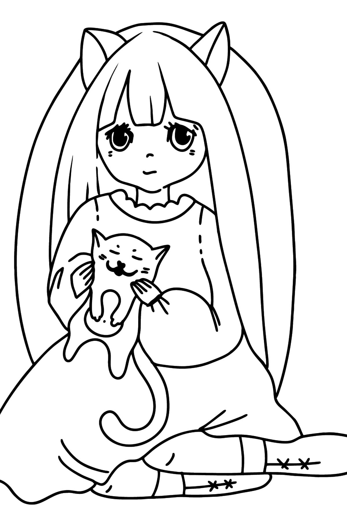 Красивая Раскраска Аниме - Картинки для Детей