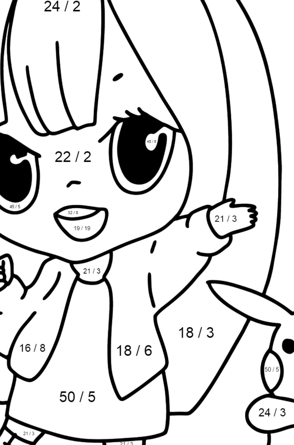 Anime Mädchen Kawaii Ausmalbilder ♥ Drucken und online!