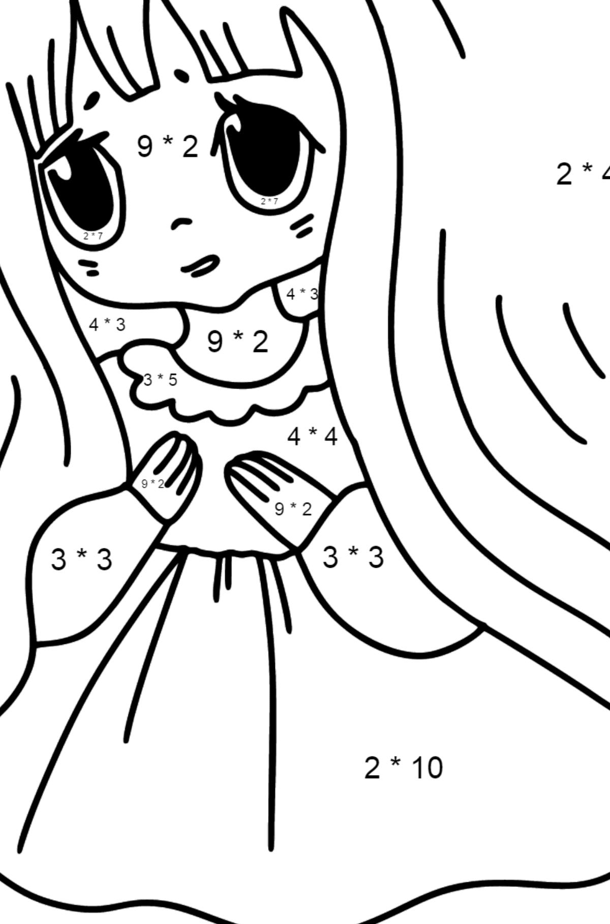 Anime Trauriges Mädchen Ausmalbilder ♥ Drucken und online!