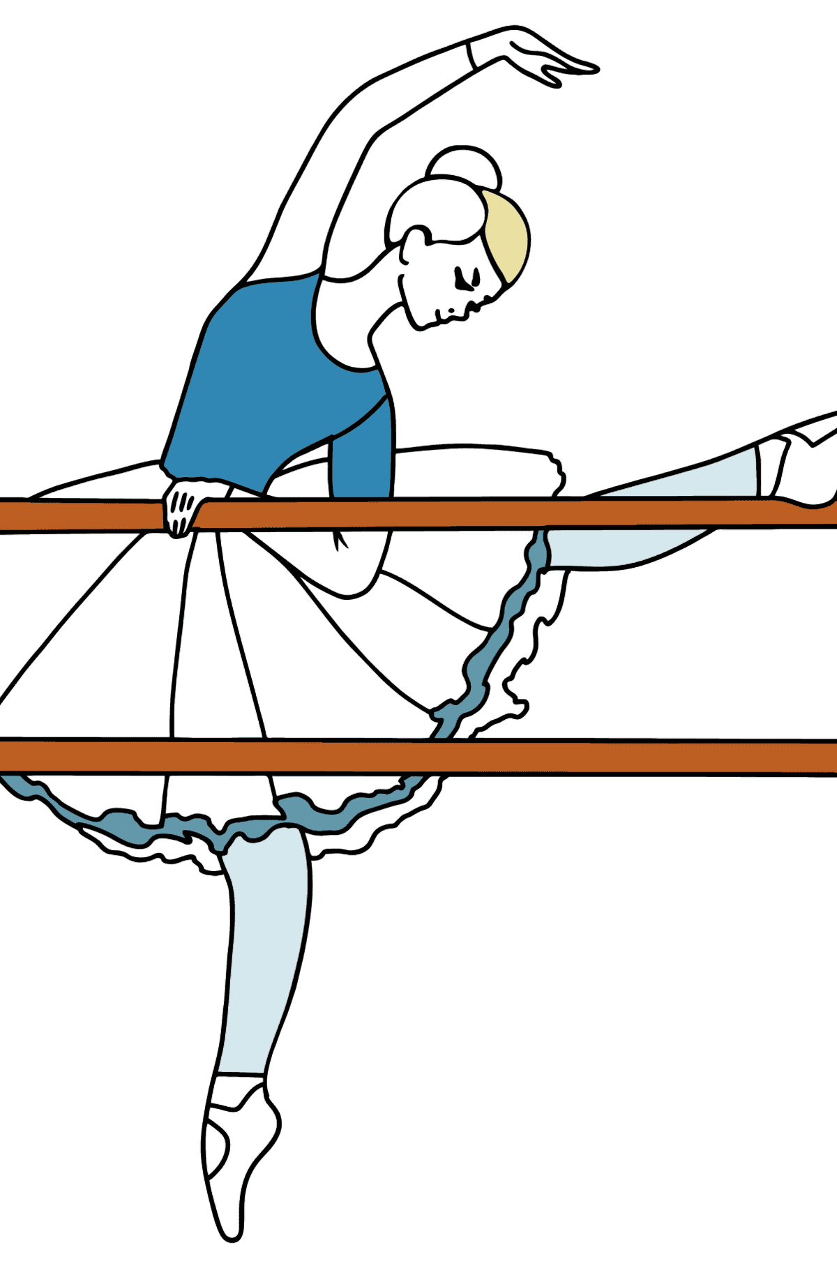 Coloring page - ballerina at the rehearsal - Coloring Pages for Kids