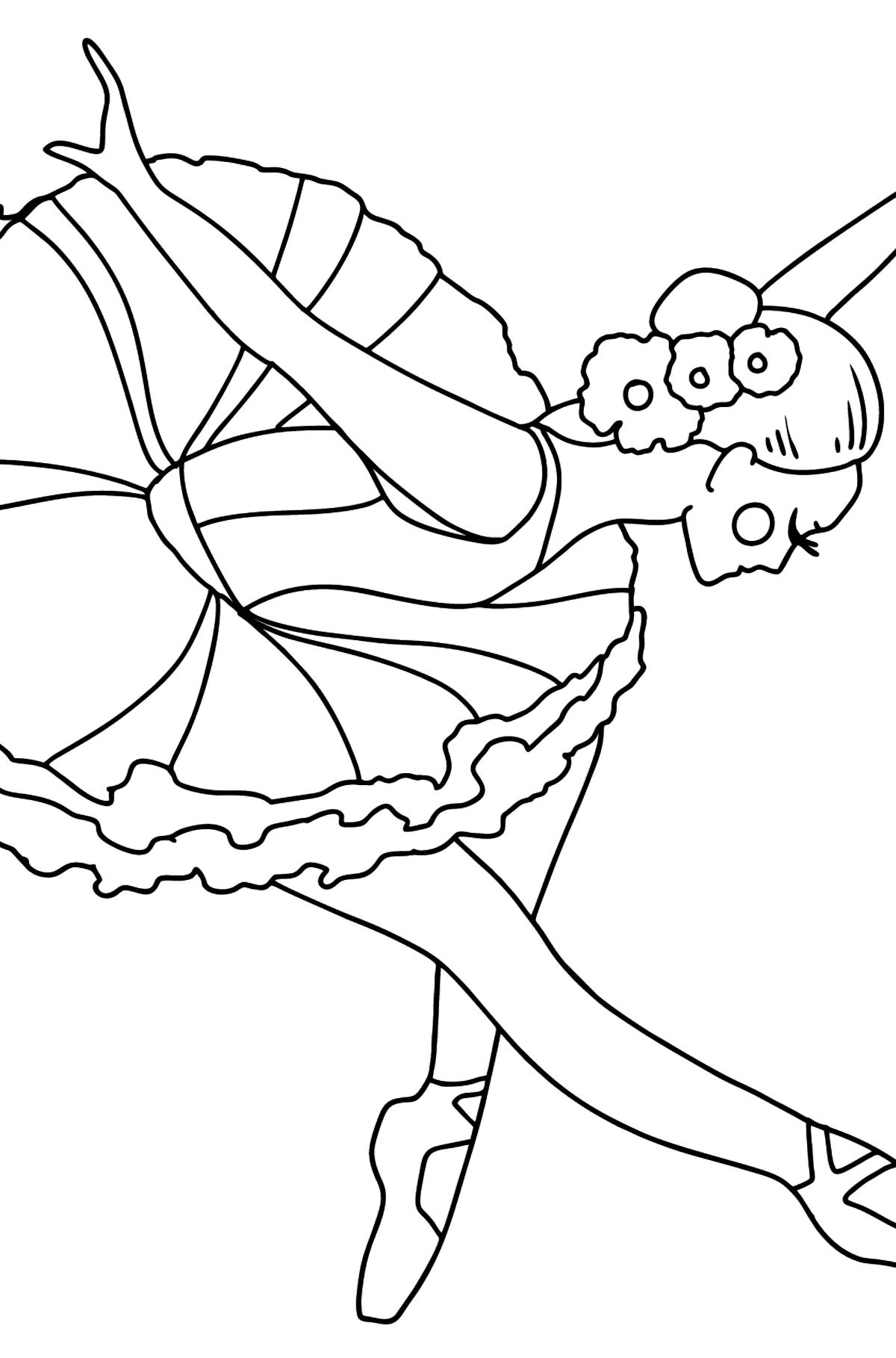 Раскраска Балерина делает поклон - Картинки для Детей