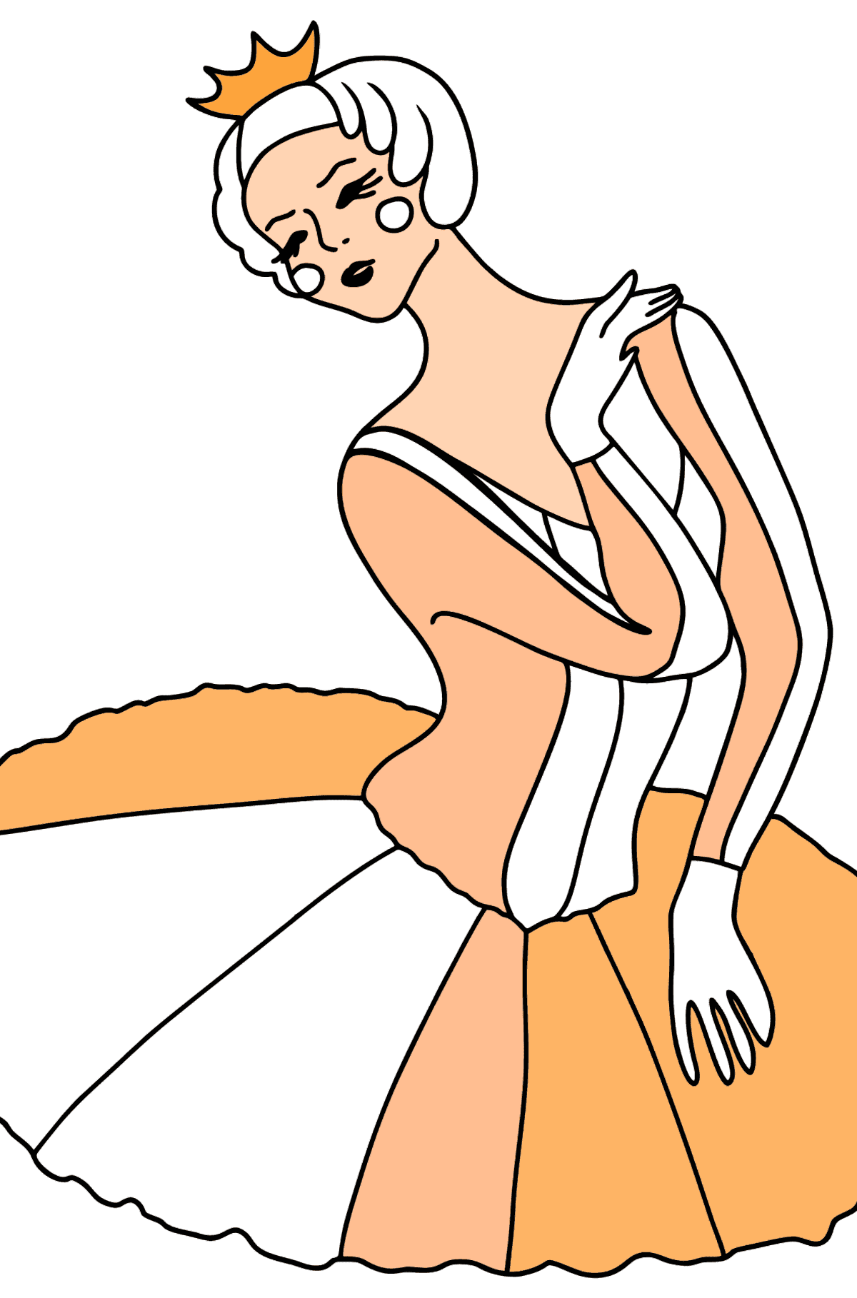 Ballerina in Tutu Skirt coloring page - Coloring Pages for Kids