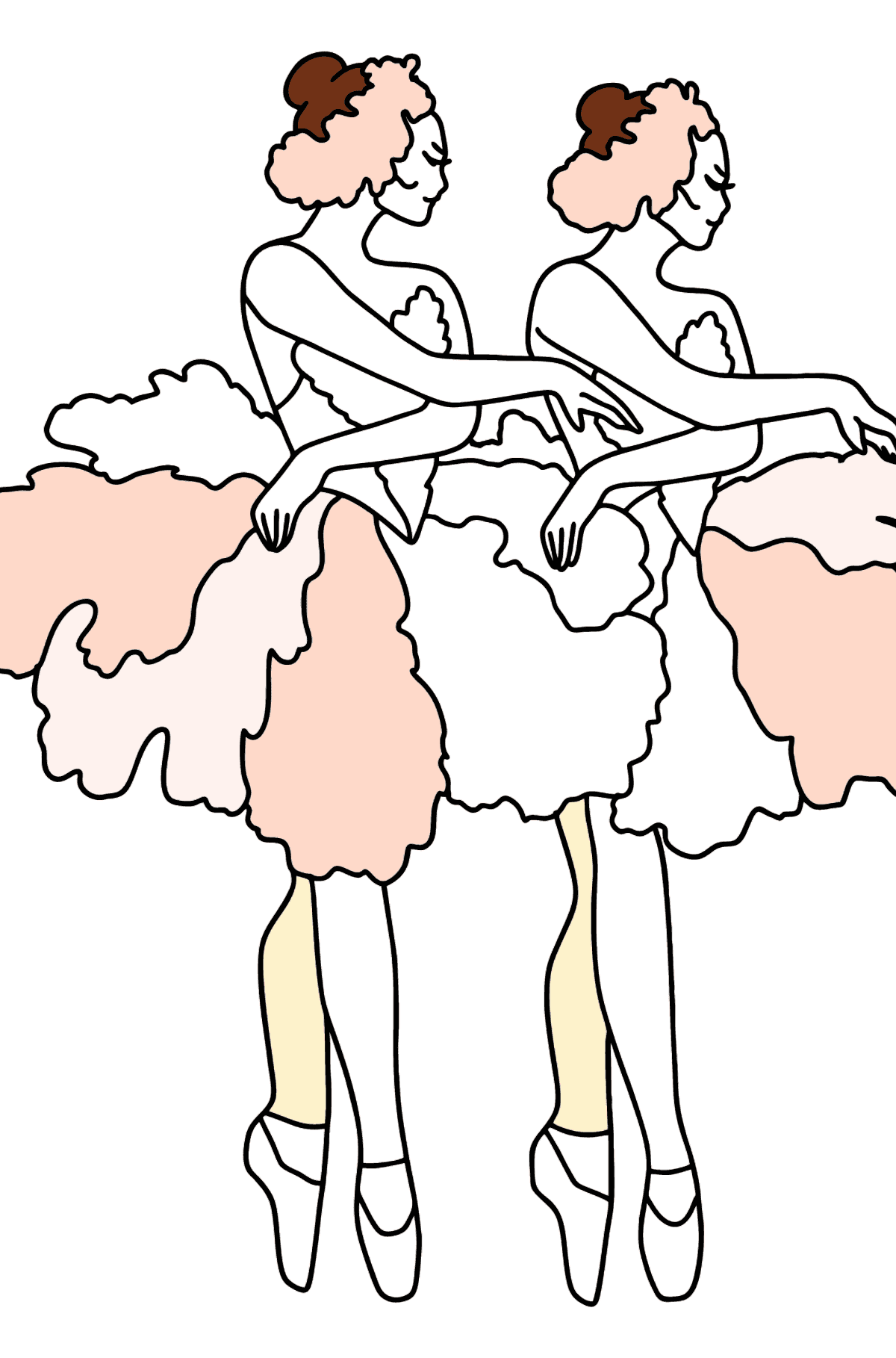 Beautiful Ballerinas coloring page - Coloring Pages for Kids