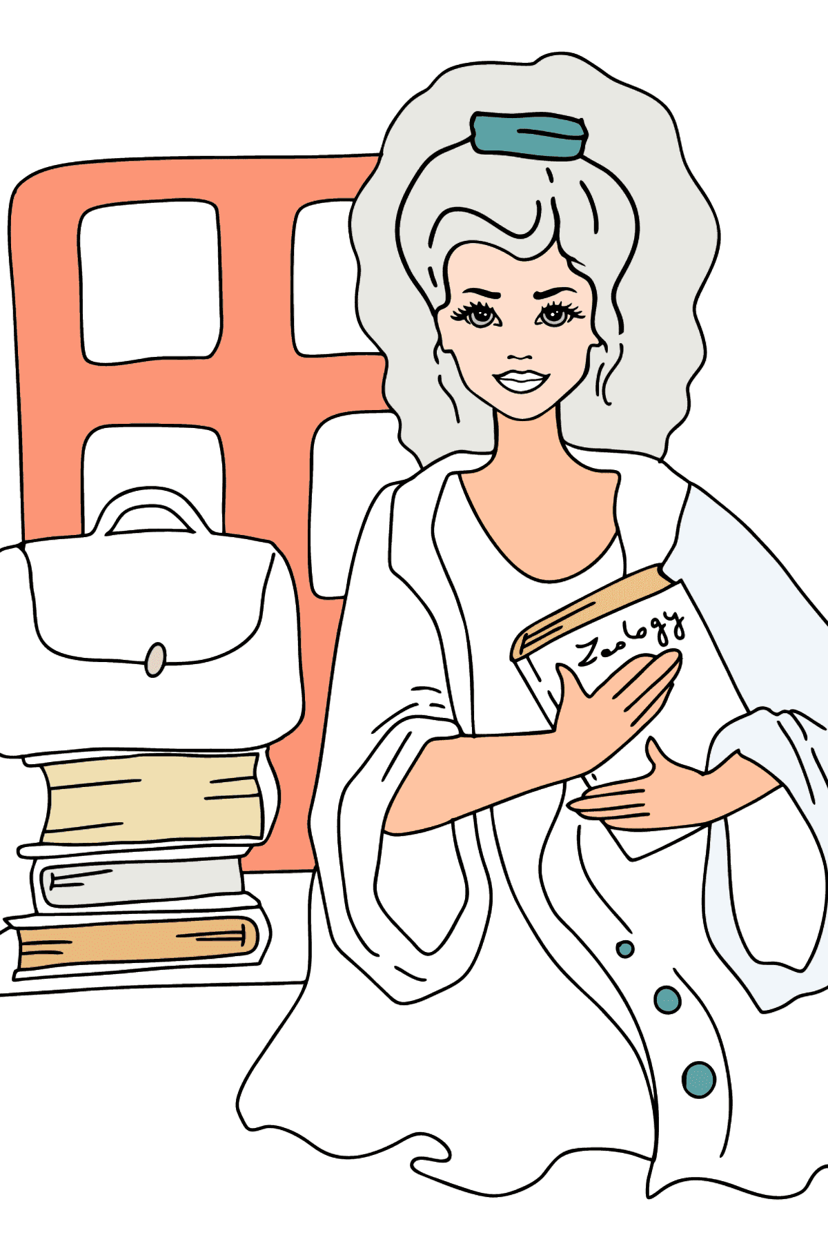 Barbie Doll Student coloring page - Coloring Pages for Kids