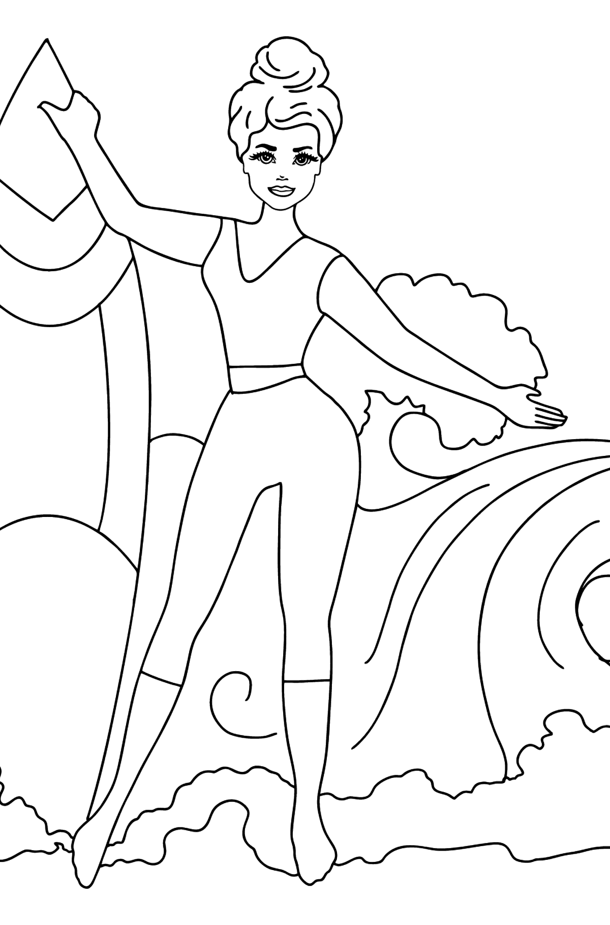 Barbie Surfer Doll coloring page - Coloring Pages for Kids
