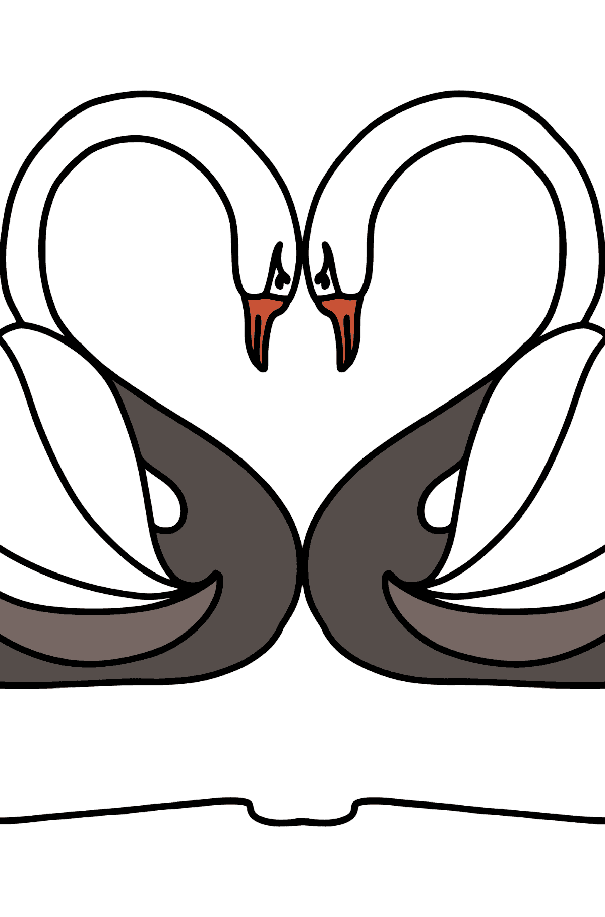 Black Swans coloring page - Coloring Pages for Kids