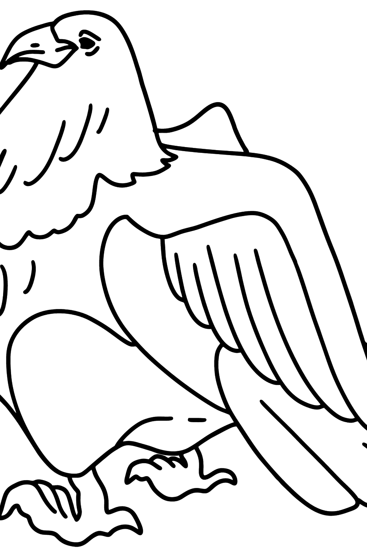A beautiful eagle coloring page - Coloring Pages for Kids