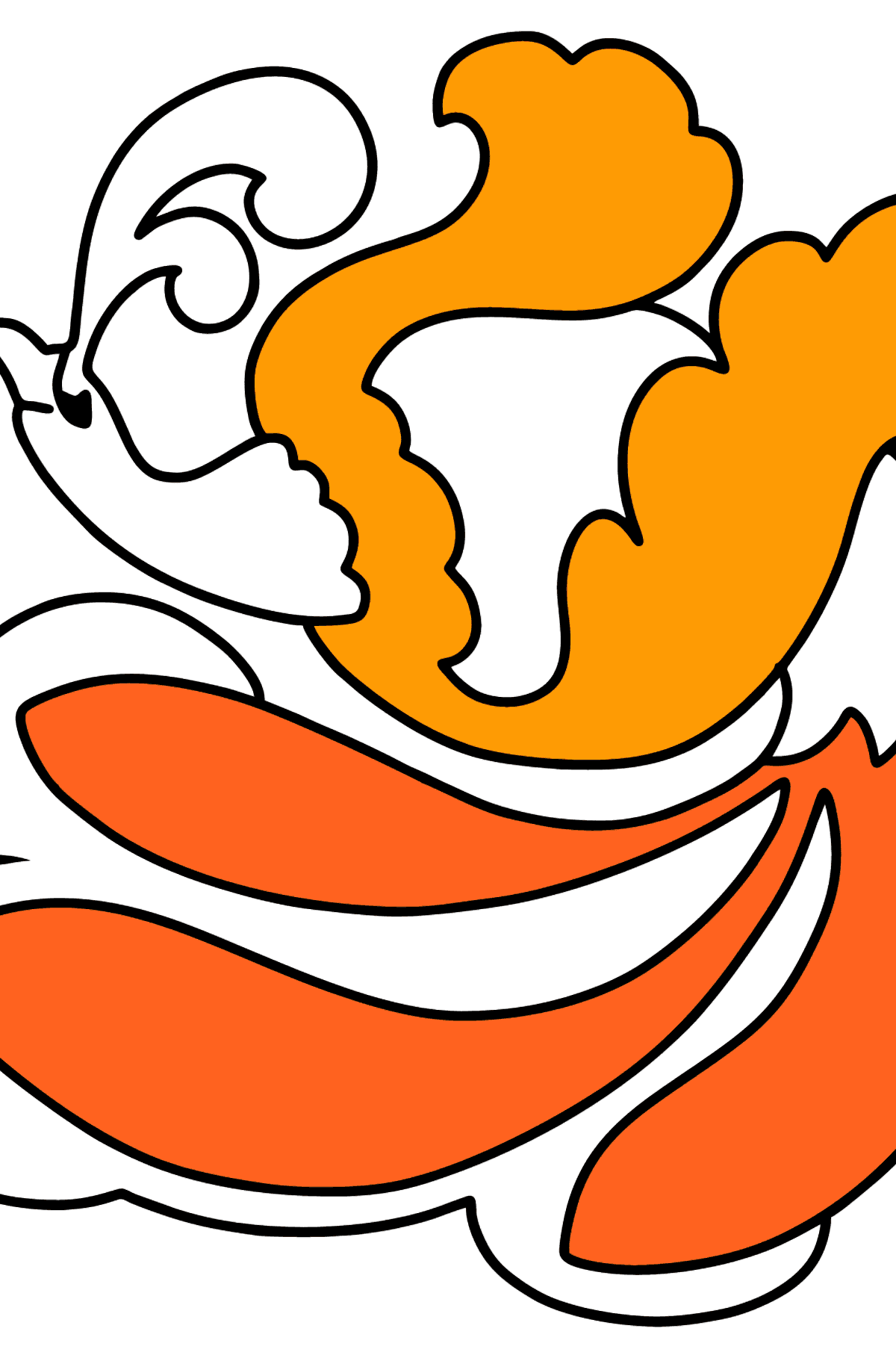 Firebird coloring page - Coloring Pages for Kids