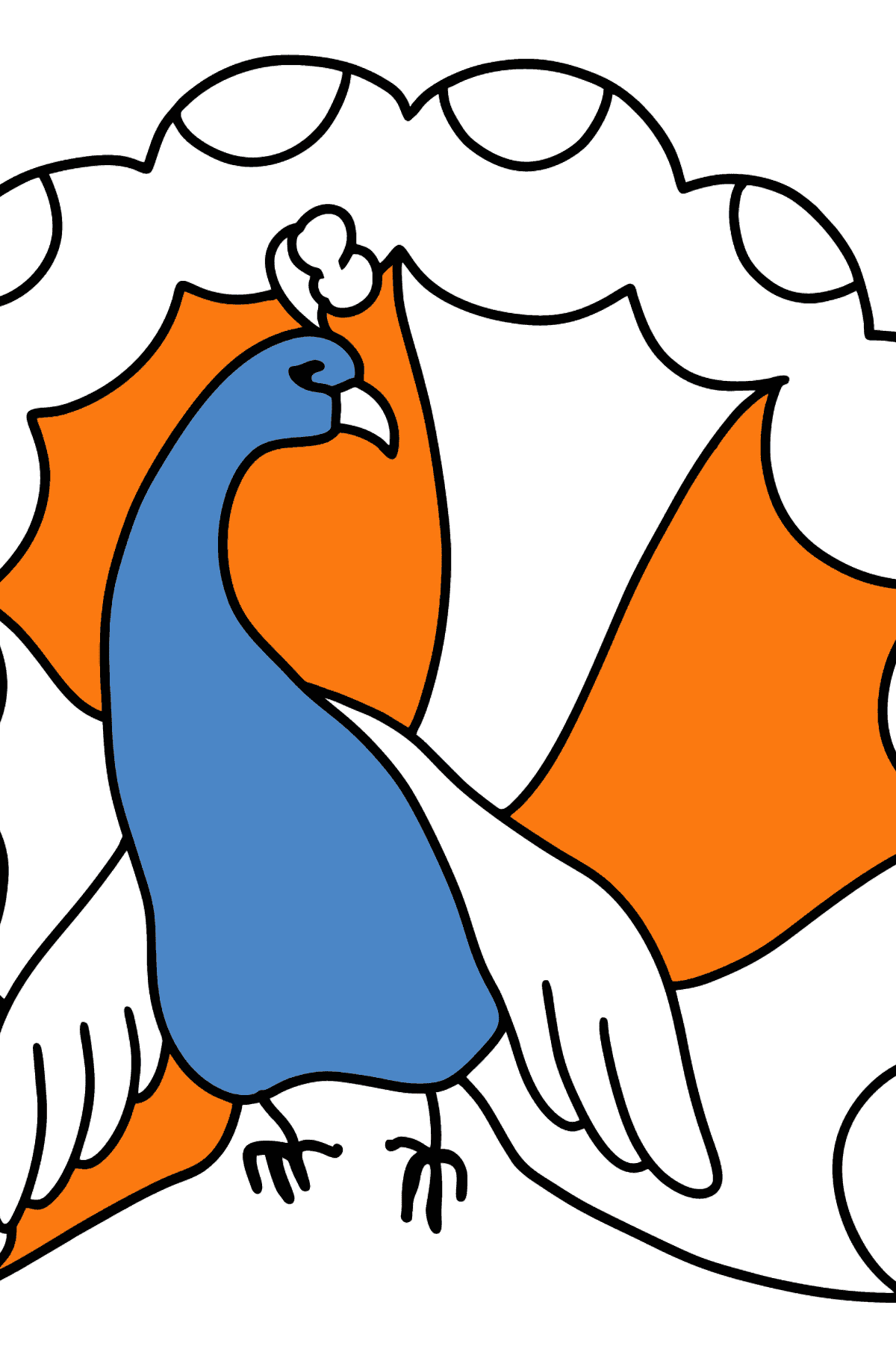 Peacock coloring page - Coloring Pages for Kids