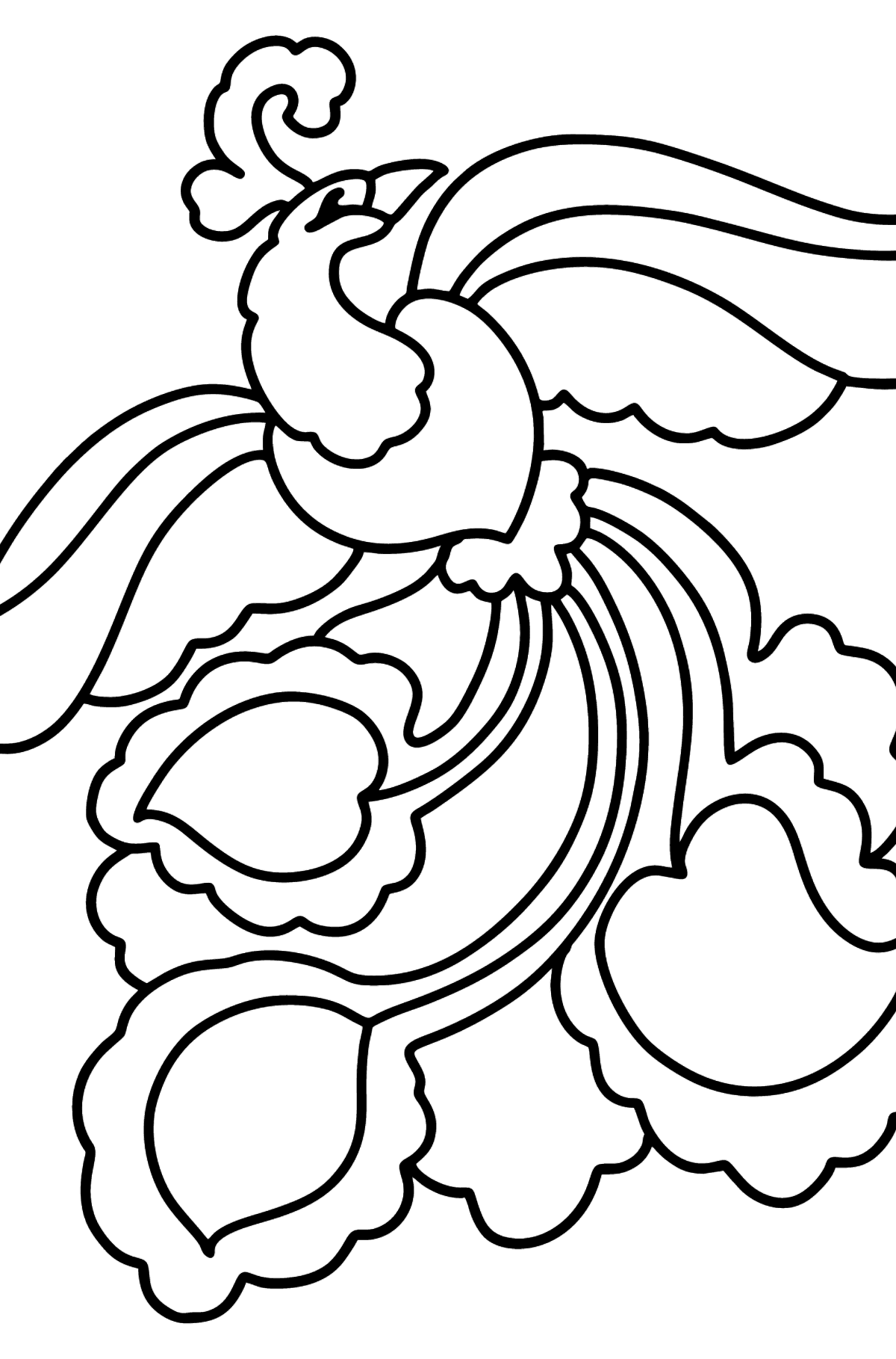 Phoenix coloring page - Coloring Pages for Kids