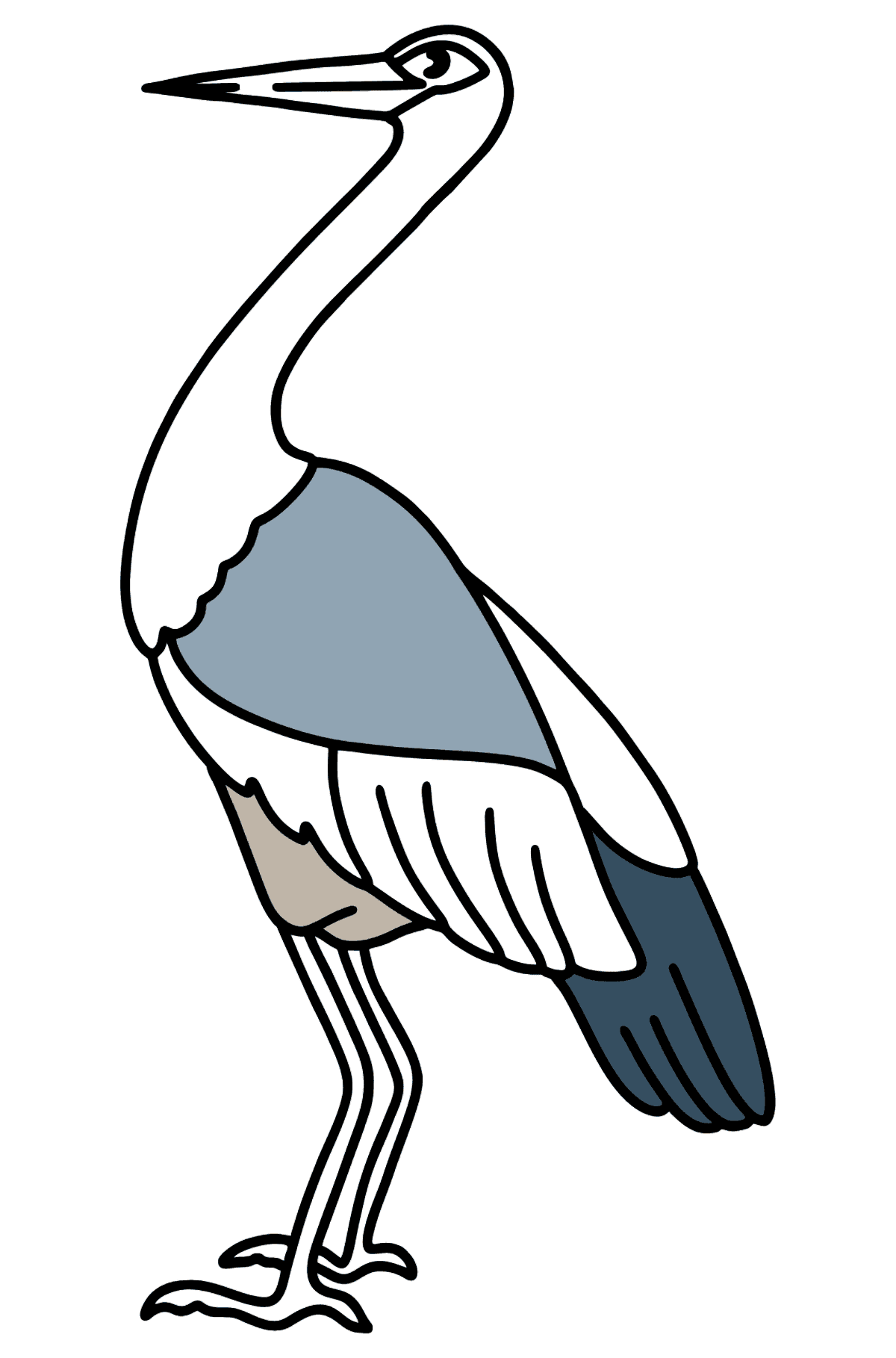 Stork coloring page - Coloring Pages for Kids