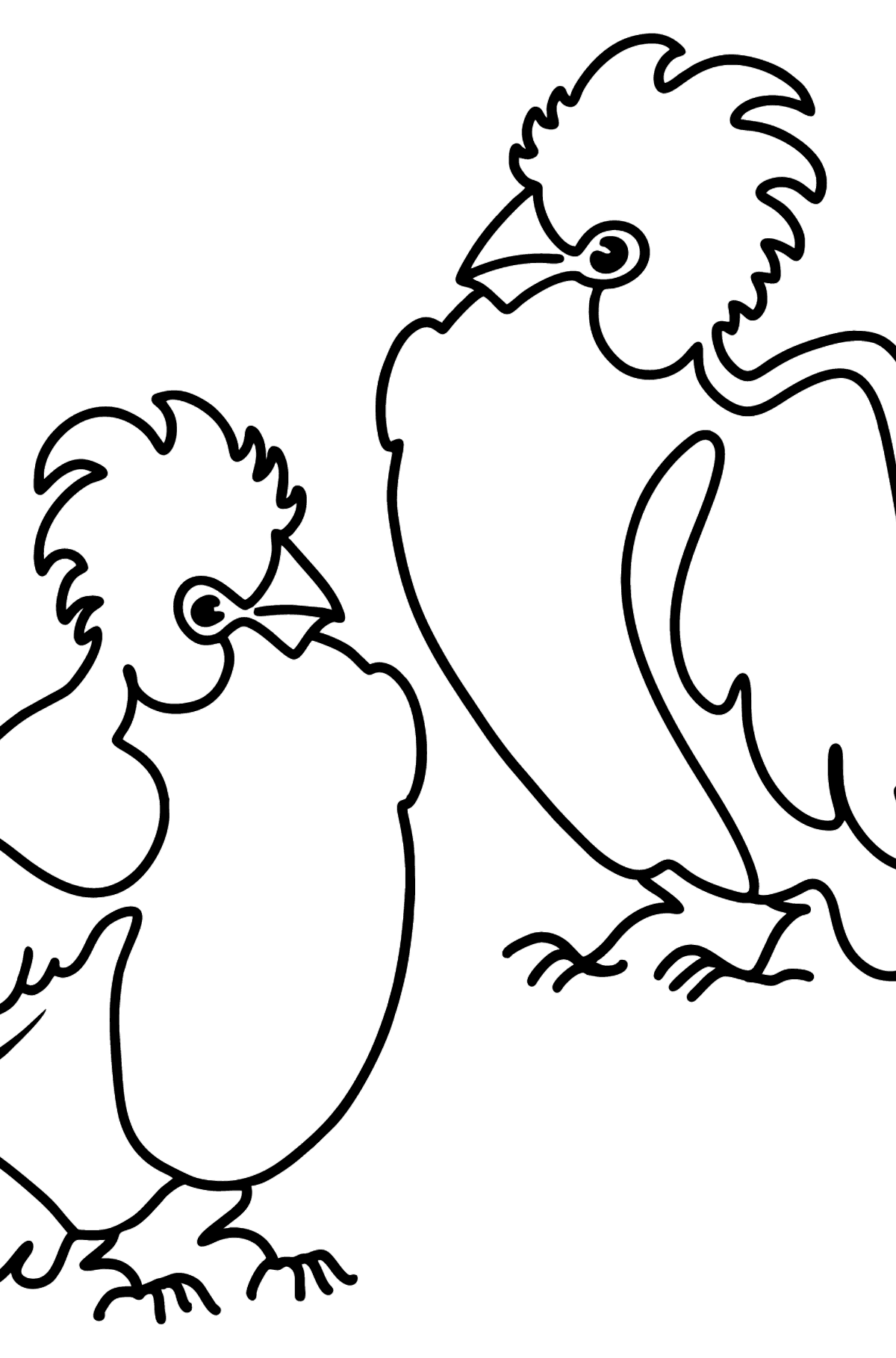 2 Parrots coloring page - Coloring Pages for Kids
