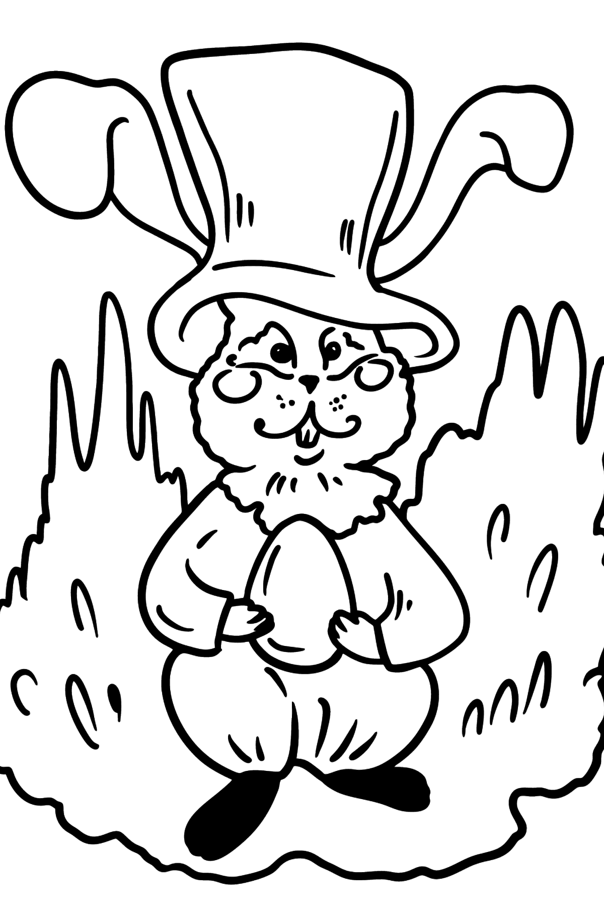 Easter Bunny coloring page - Coloring Pages for Kids