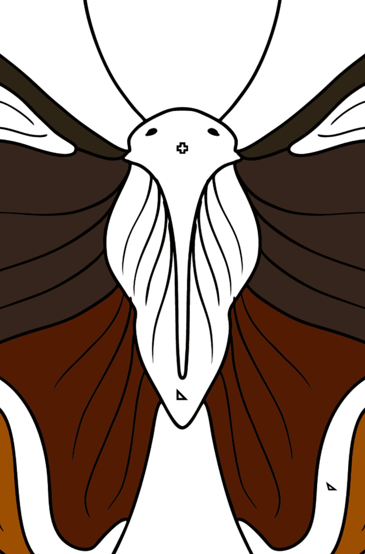 Раскраска бабочка адмирал - Раскраска по Геометрическим Фигурам для Детей