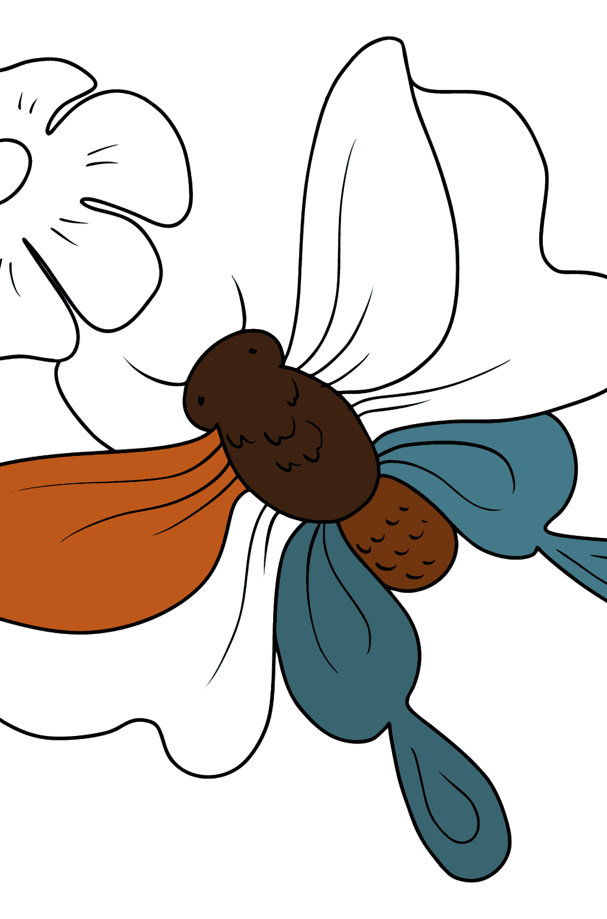 Butterfly on a Flower coloring page - Coloring Pages for Kids