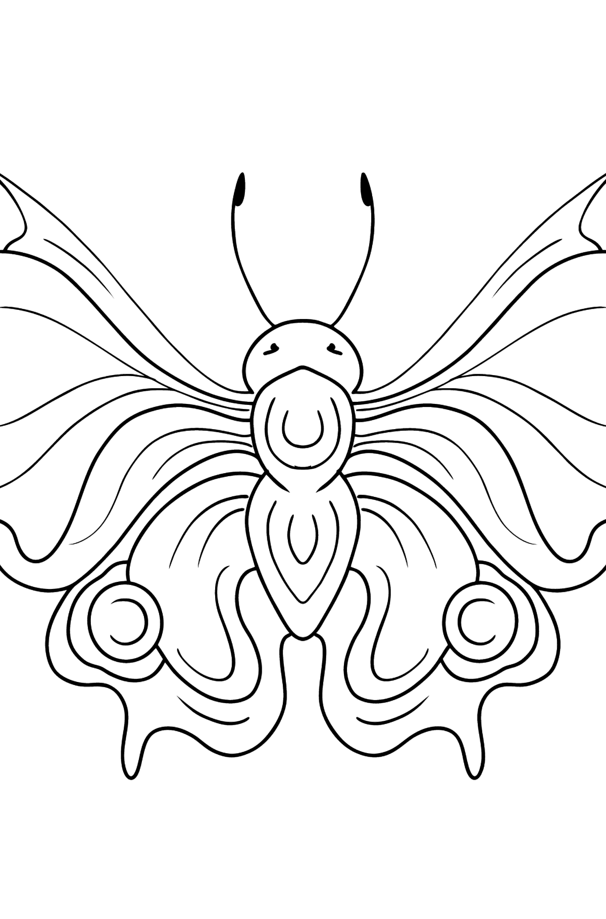 Peacock Butterfly coloring page - Coloring Pages for Kids