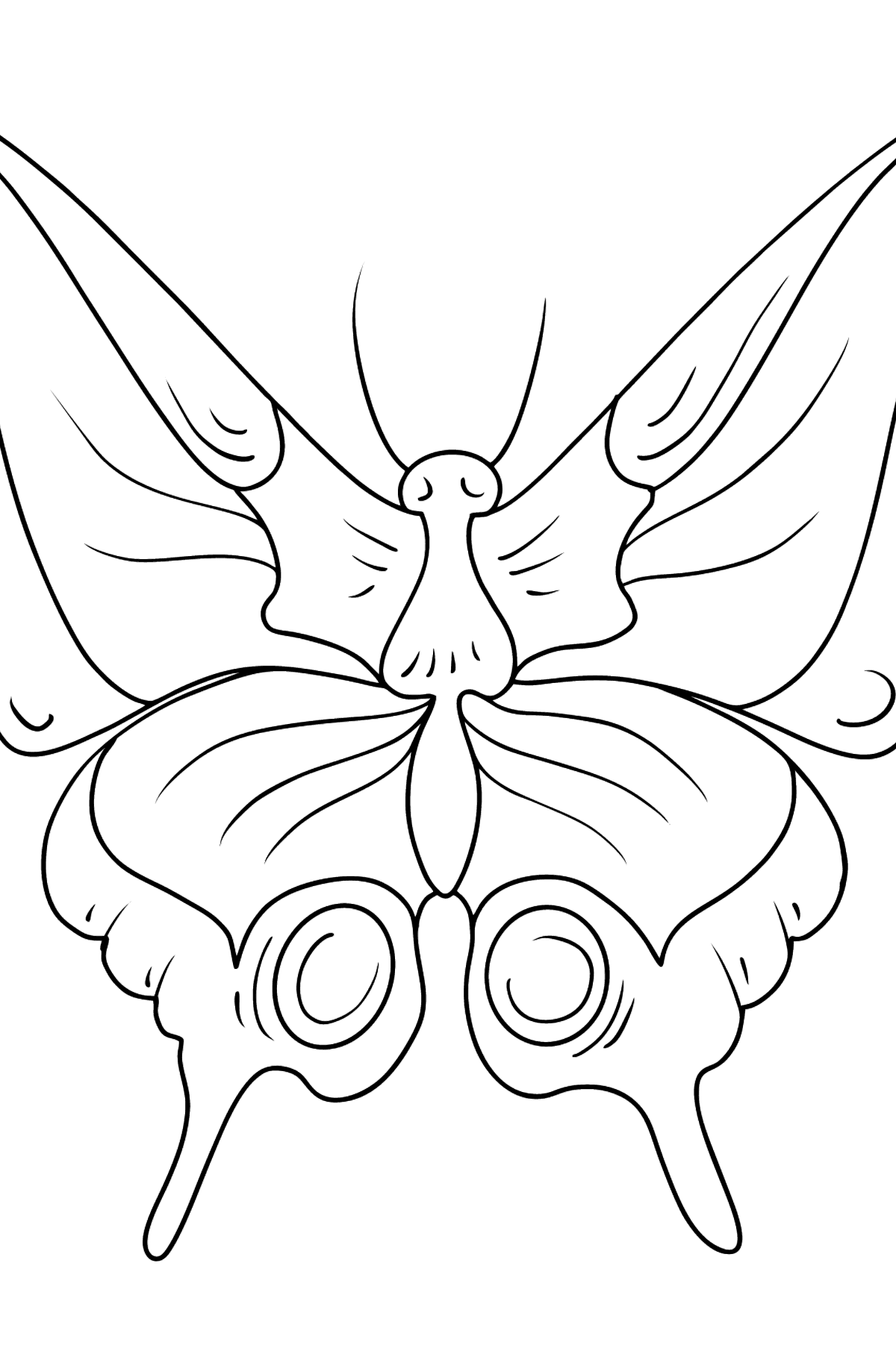 Swallowtail Butterfly coloring page - Coloring Pages for Kids