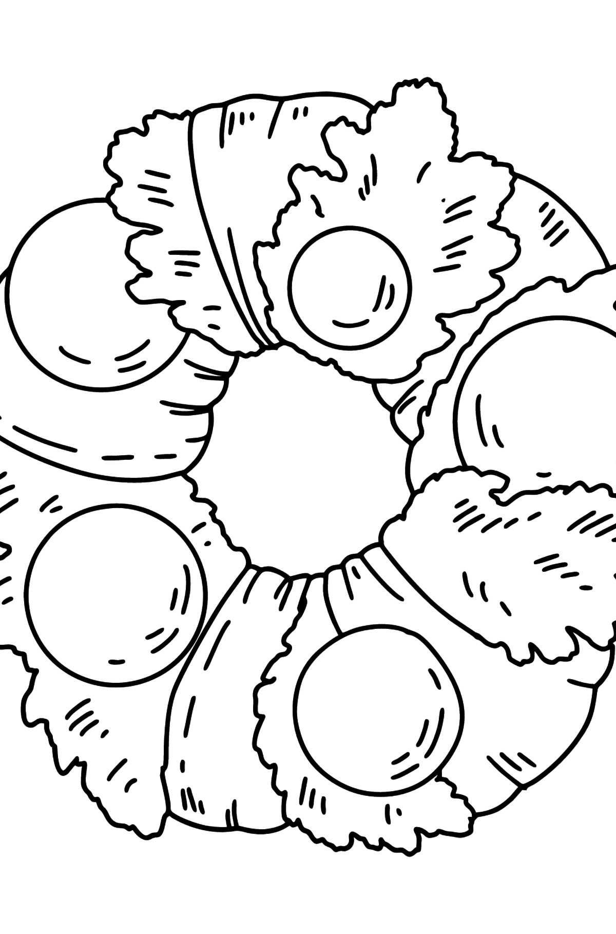 Christmas Wreath coloring page - Coloring Pages for Kids