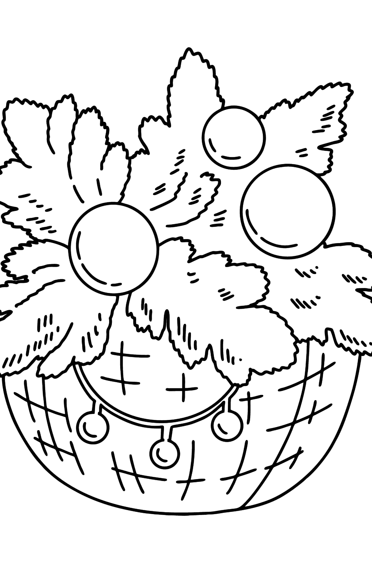 Christmas Branch coloring page - Coloring Pages for Kids