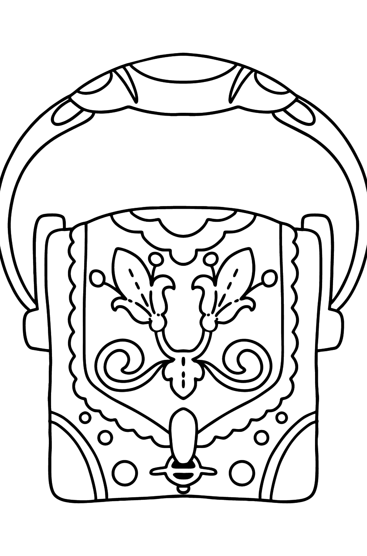 Coloring page with bag - Coloring Pages for Kids