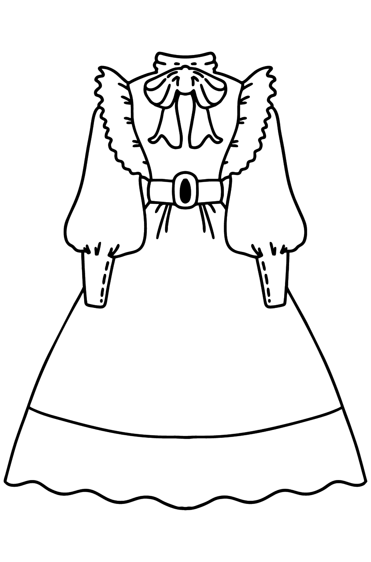 Dress coloring page - Coloring Pages for Kids