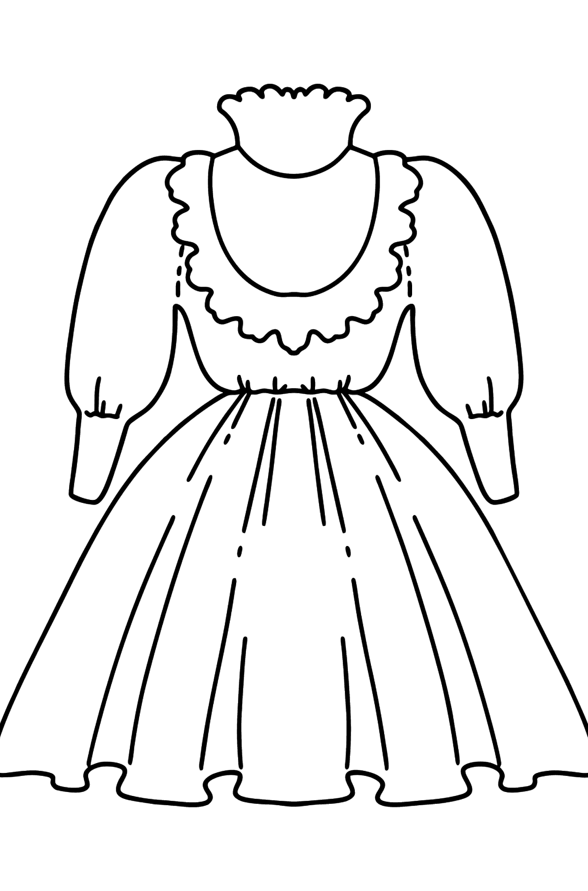 Beautiful Dress coloring page - Coloring Pages for Kids