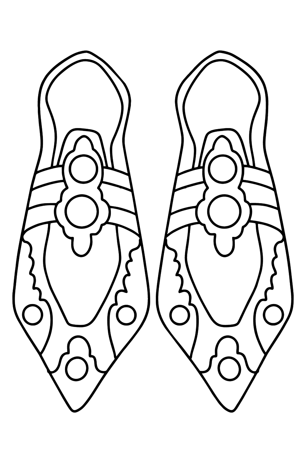 Coloring page with shoes - Coloring Pages for Kids