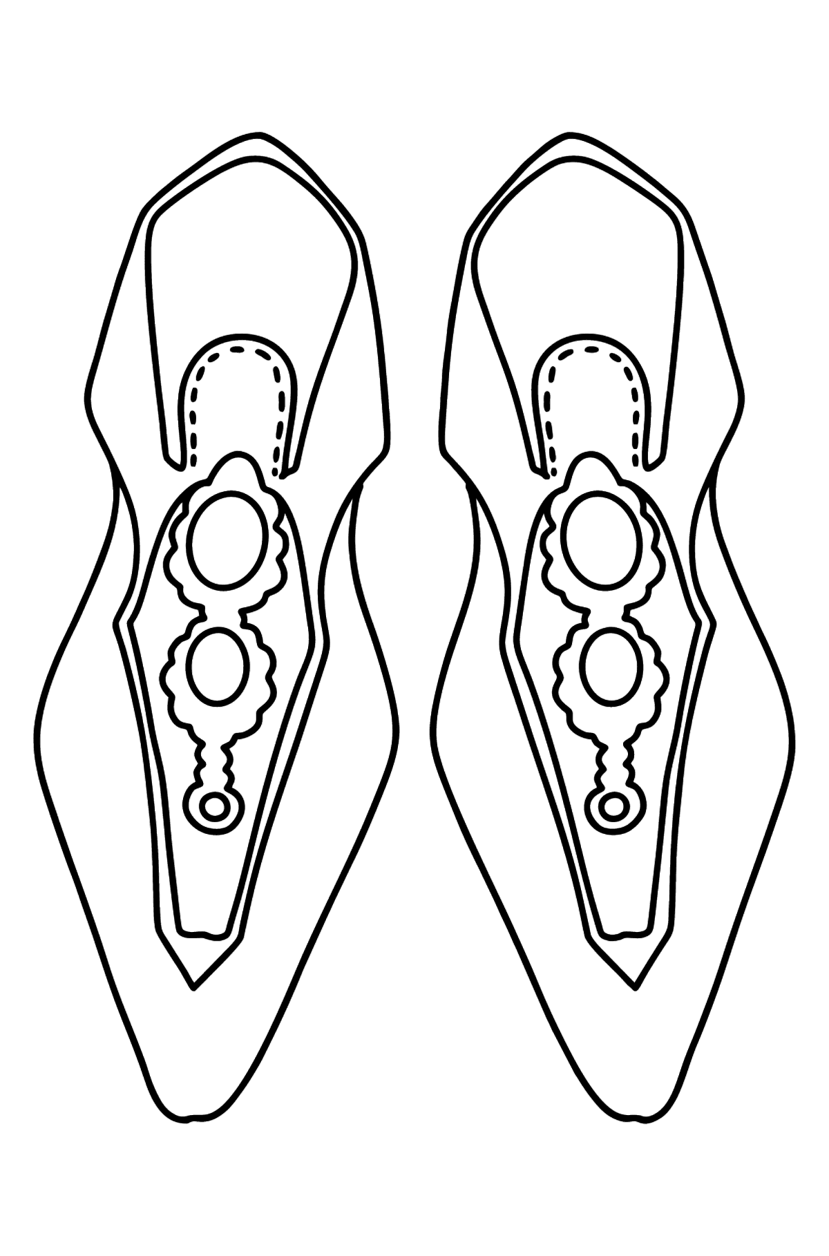 Shoes coloring page - Coloring Pages for Kids