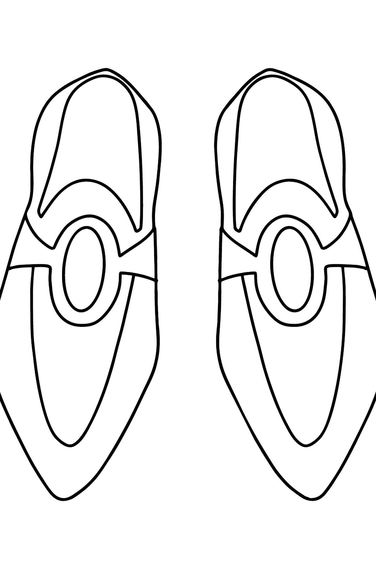 Simple coloring page shoes  - Coloring Pages for Kids