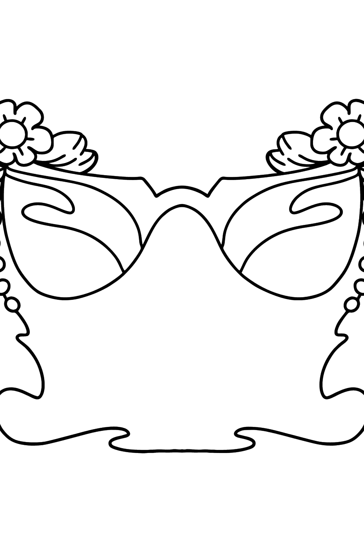 Coloring page with glasses - Coloring Pages for Kids
