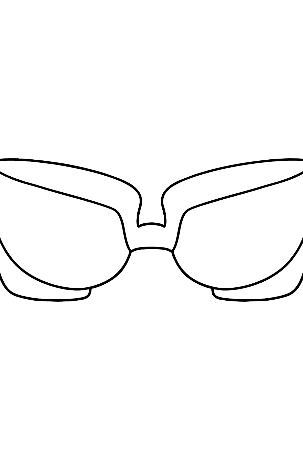 Glasses coloring page - Coloring Pages for Kids