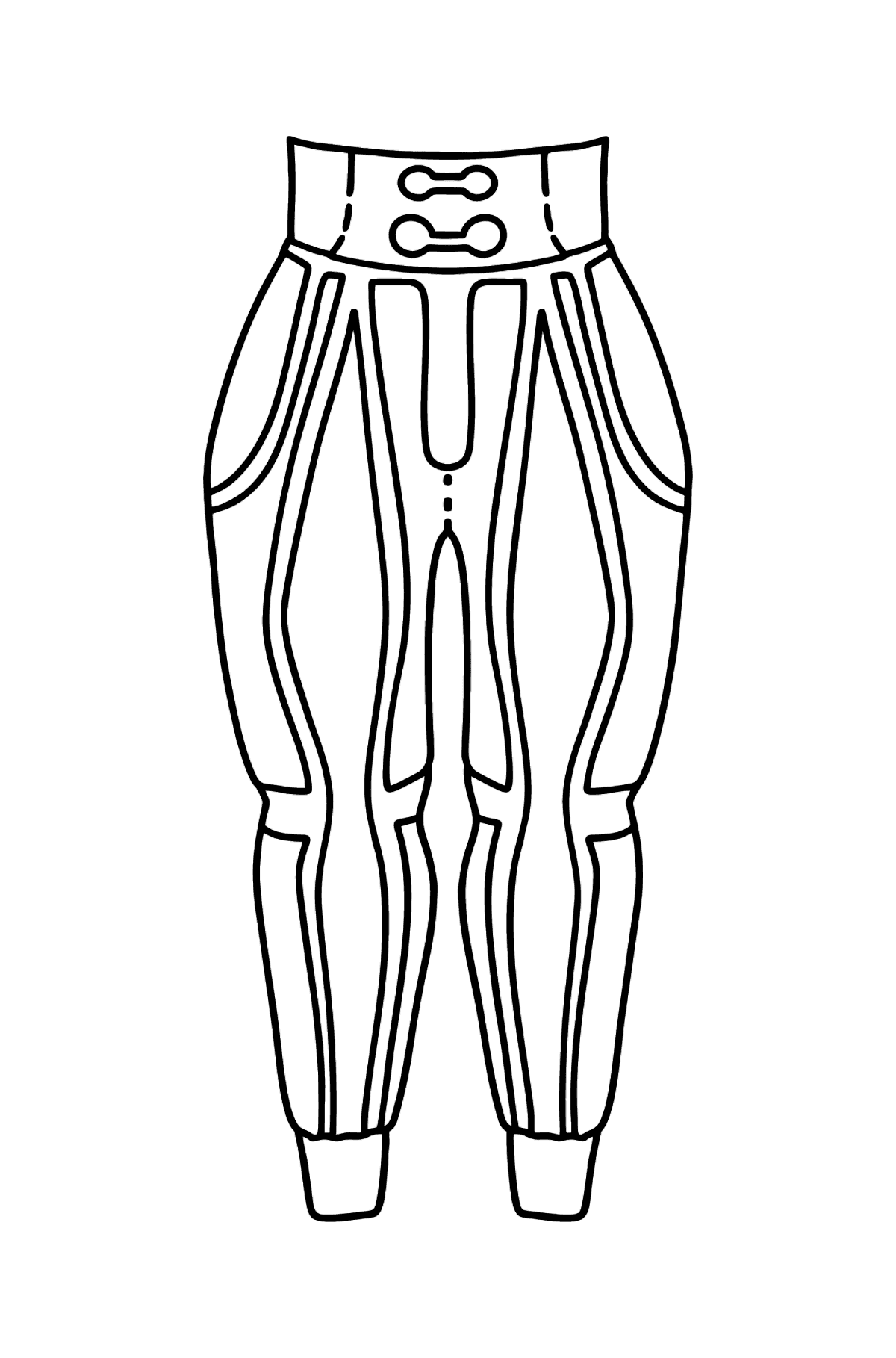 Pants coloring page - Coloring Pages for Kids