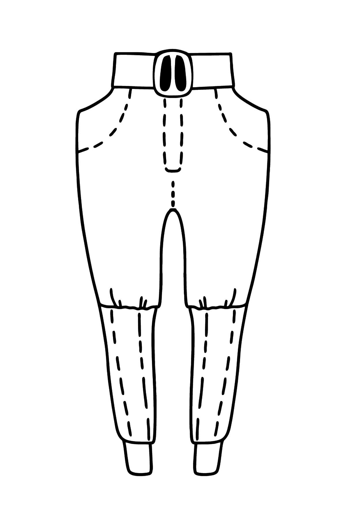 Easy Coloring page Pants - Coloring Pages for Kids