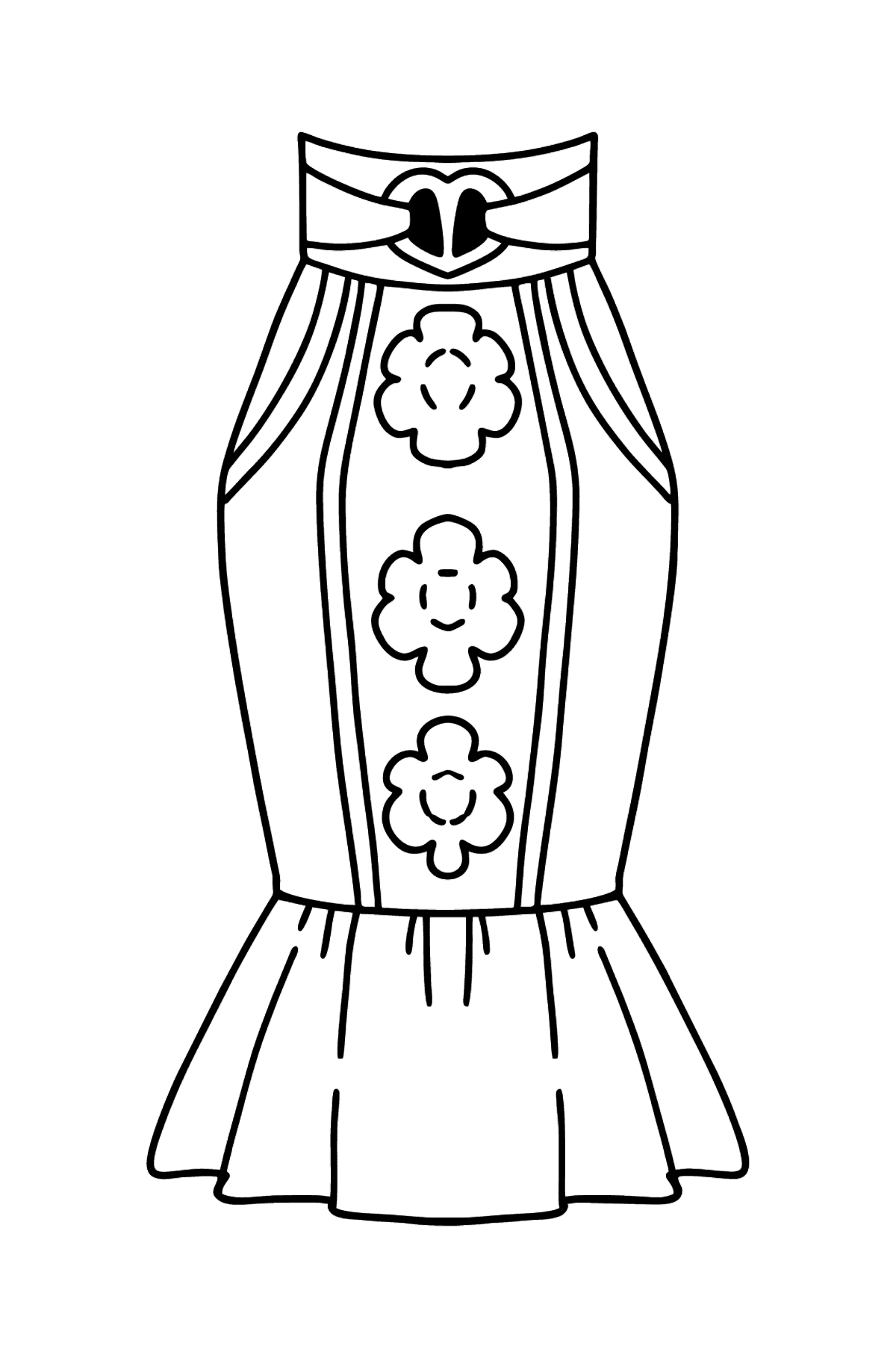 Skirt coloring page - Coloring Pages for Kids