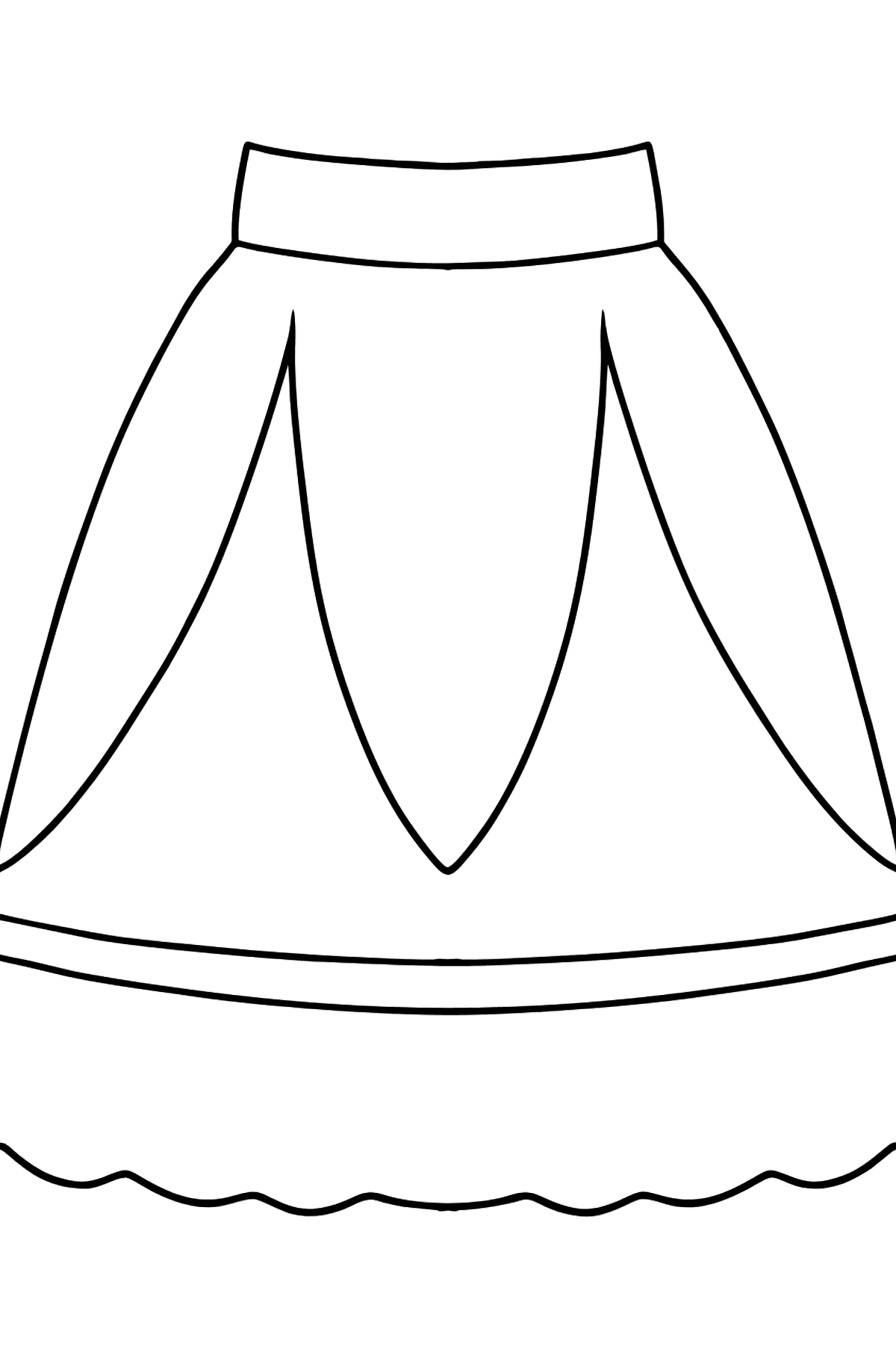 Beautiful Skirt coloring page - Coloring Pages for Kids