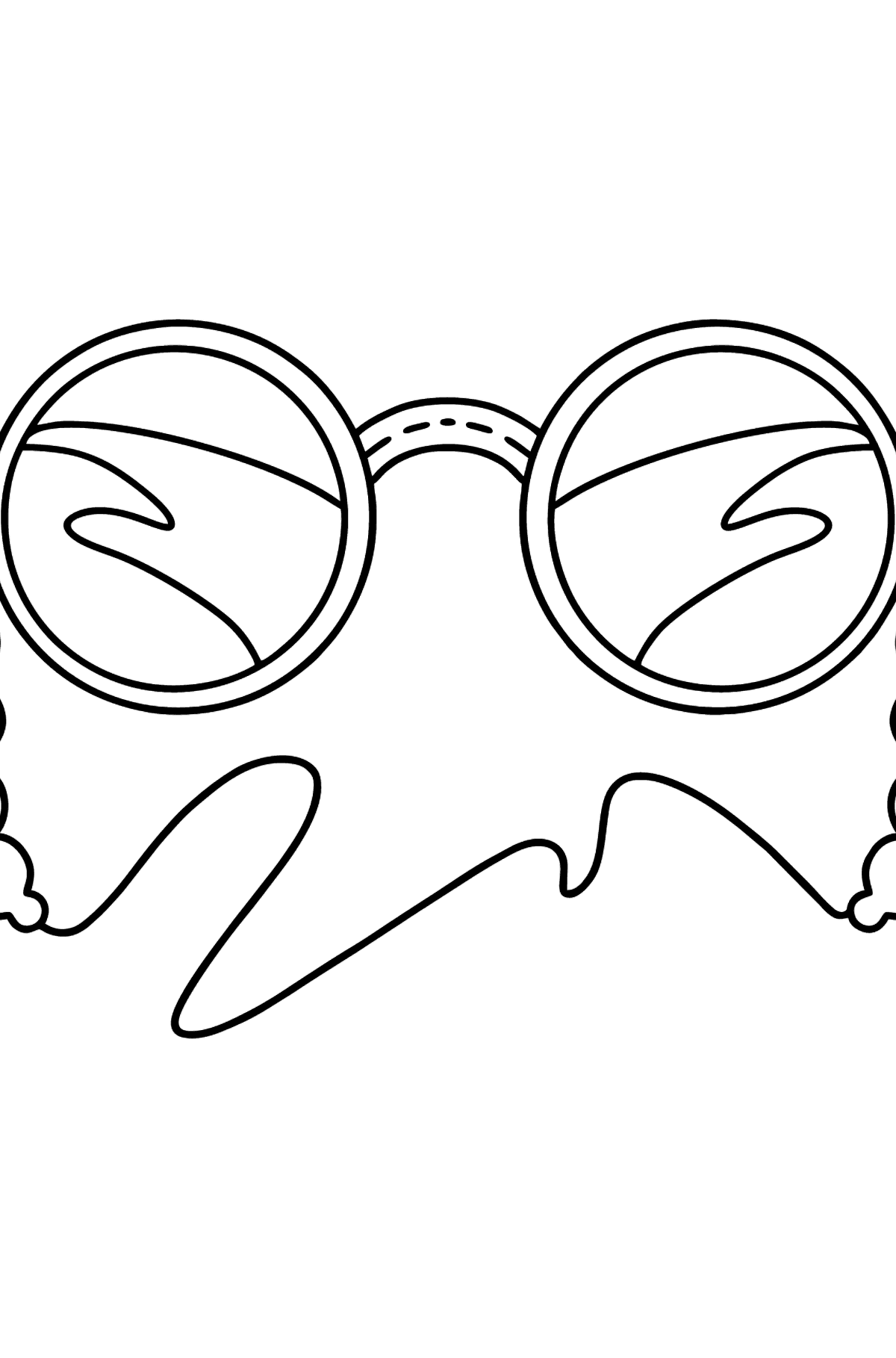 Sun glasses coloring page - Coloring Pages for Kids
