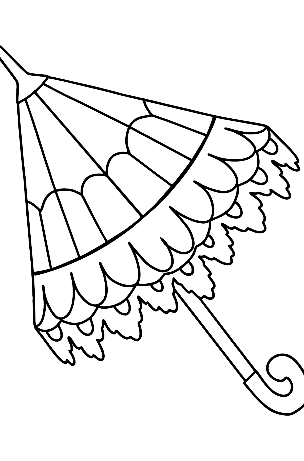 Coloring page with umbrella - Coloring Pages for Kids