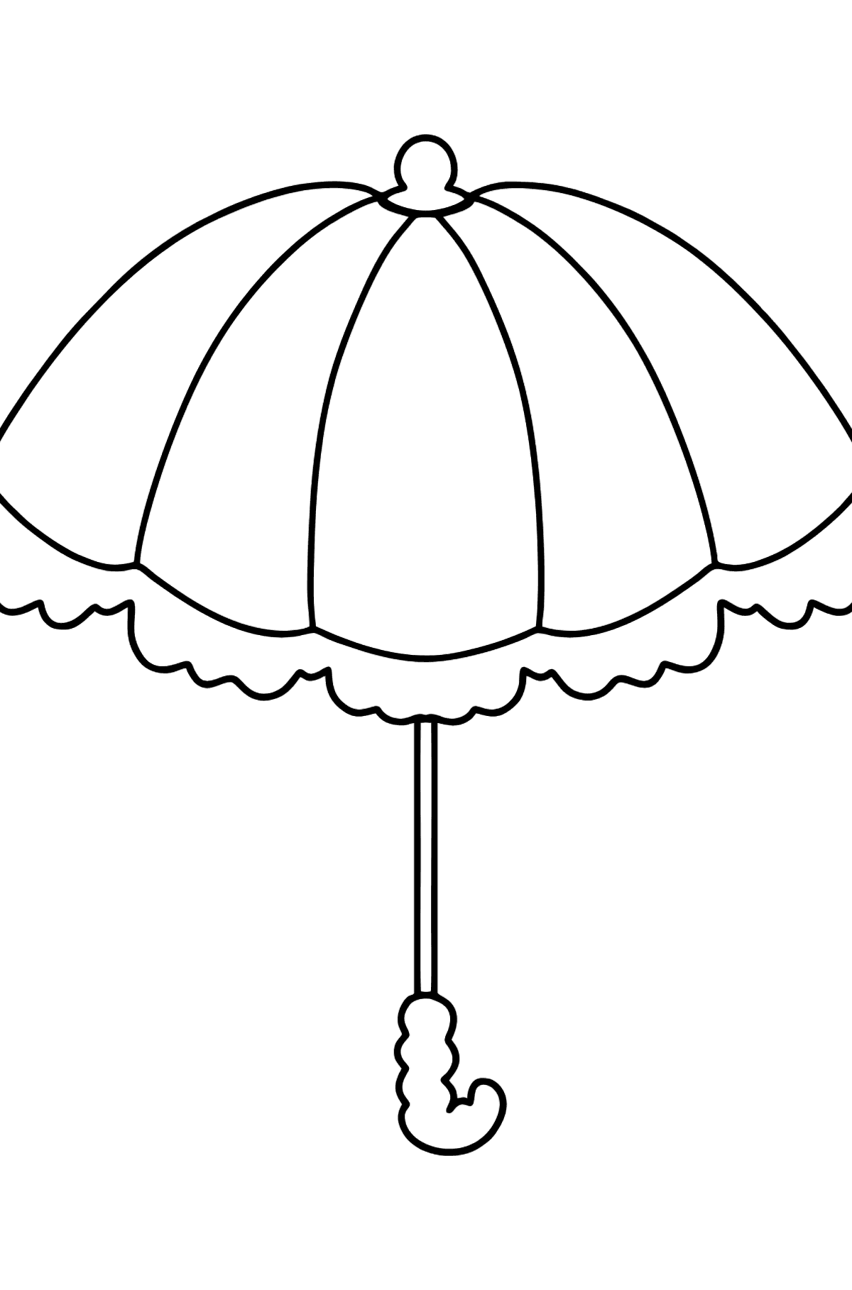 Simple coloring page - an umbrella - Coloring Pages for Kids