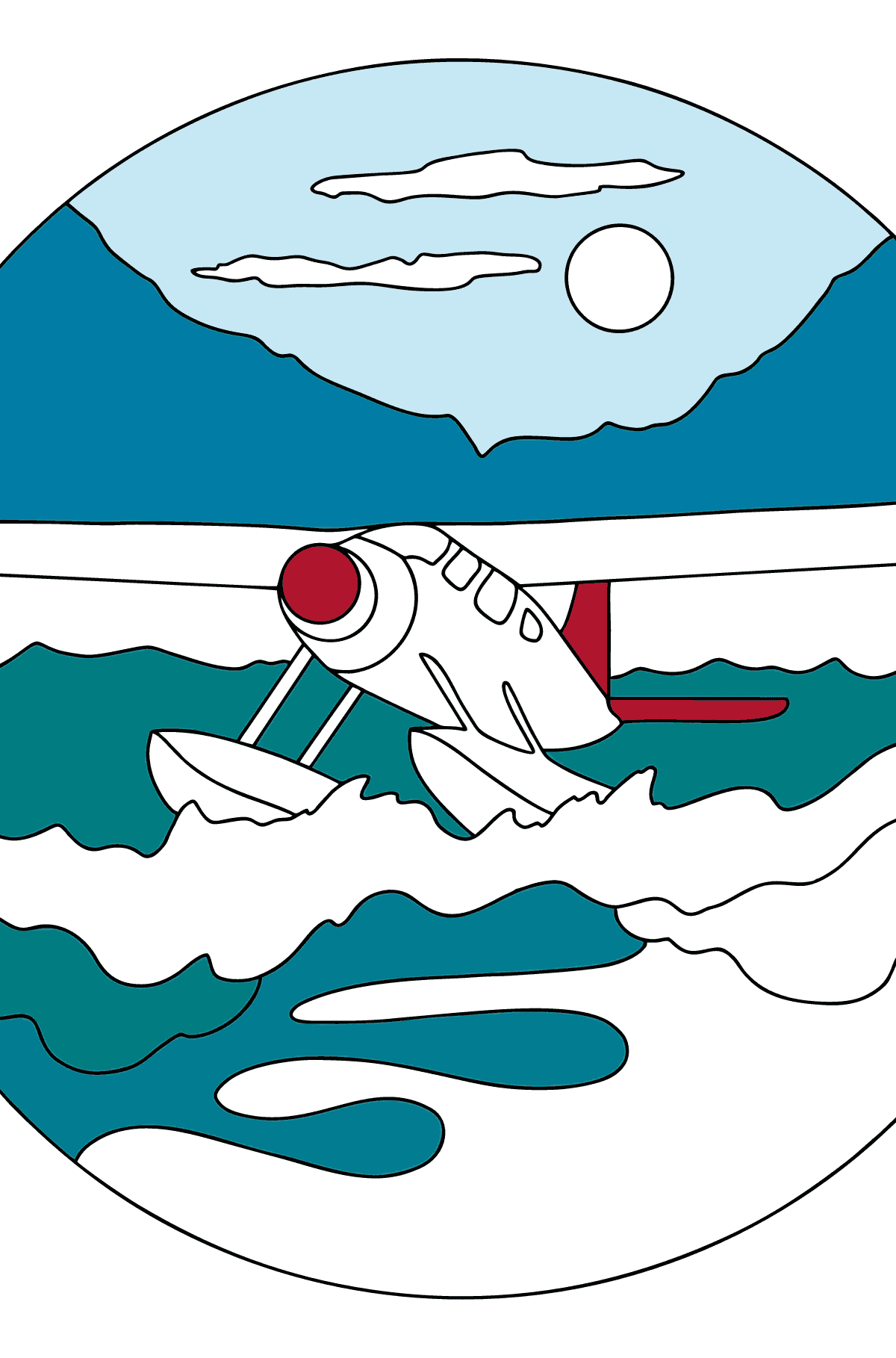 Coloring Page - A Hydroplane - Coloring Pages for Children