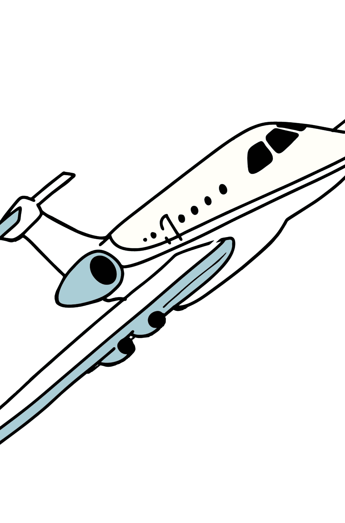 Airbus Airplane coloring page - Coloring Pages for Kids