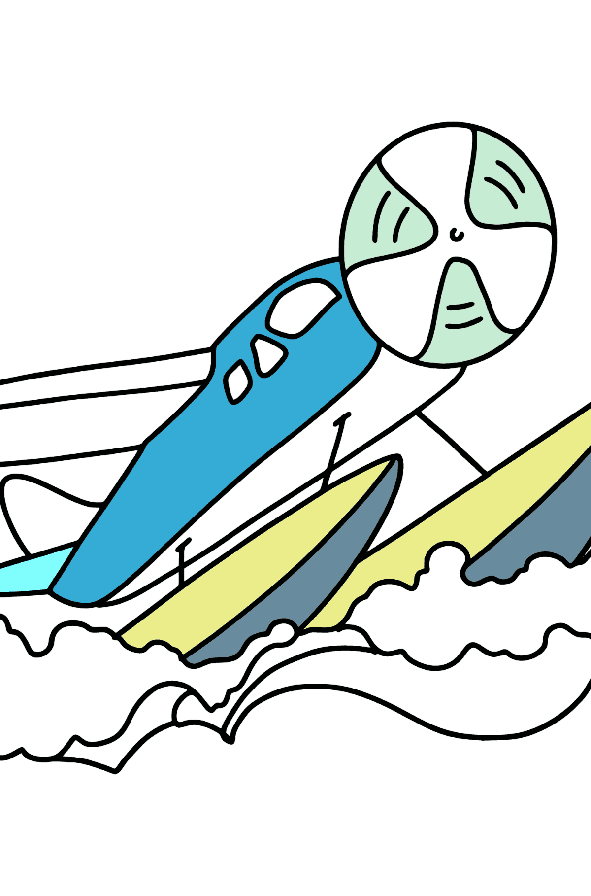 Amphibious Airplane coloring page - Coloring Pages for Kids