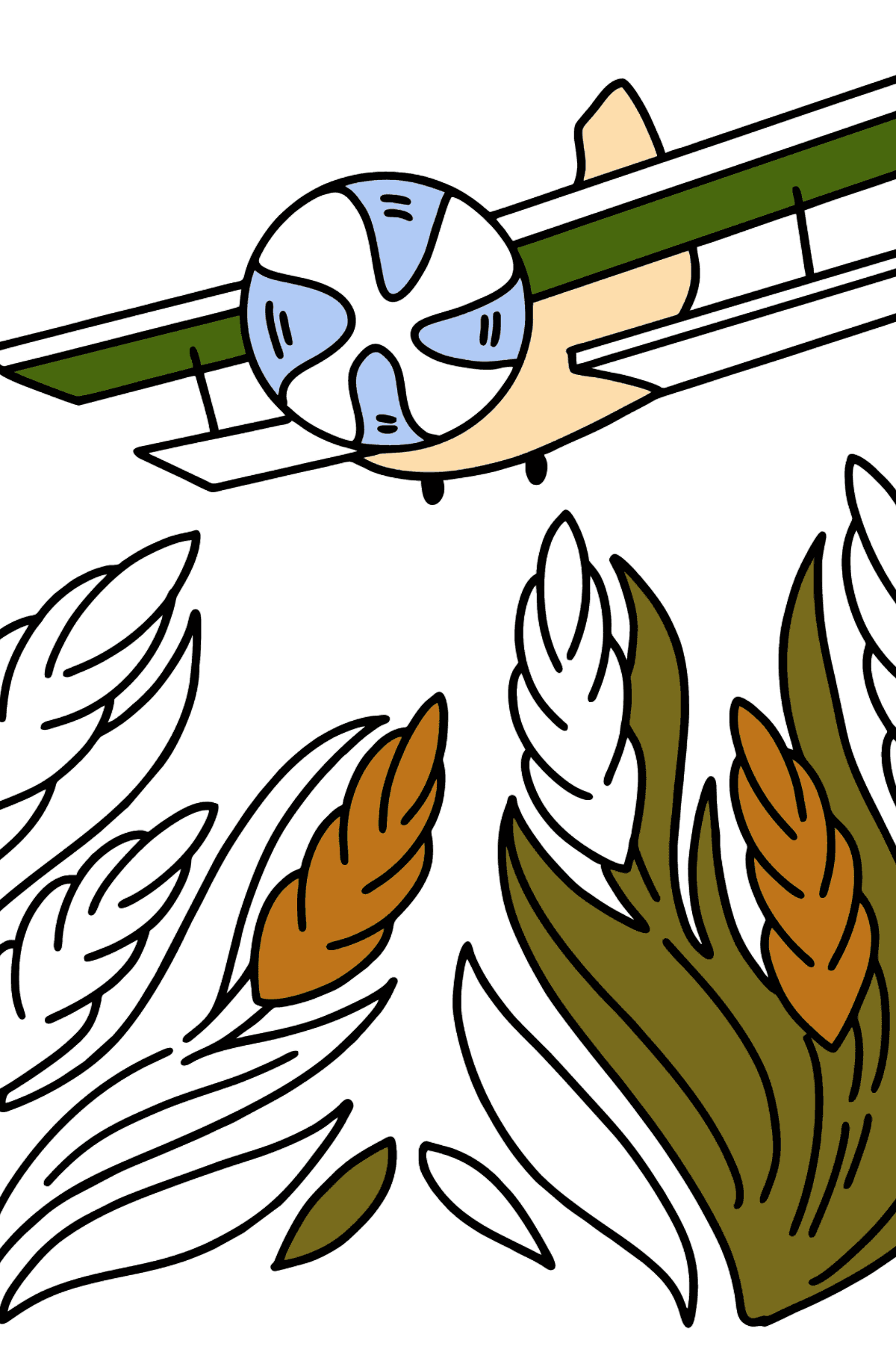 Airplane AN-2 coloring page - Coloring Pages for Kids