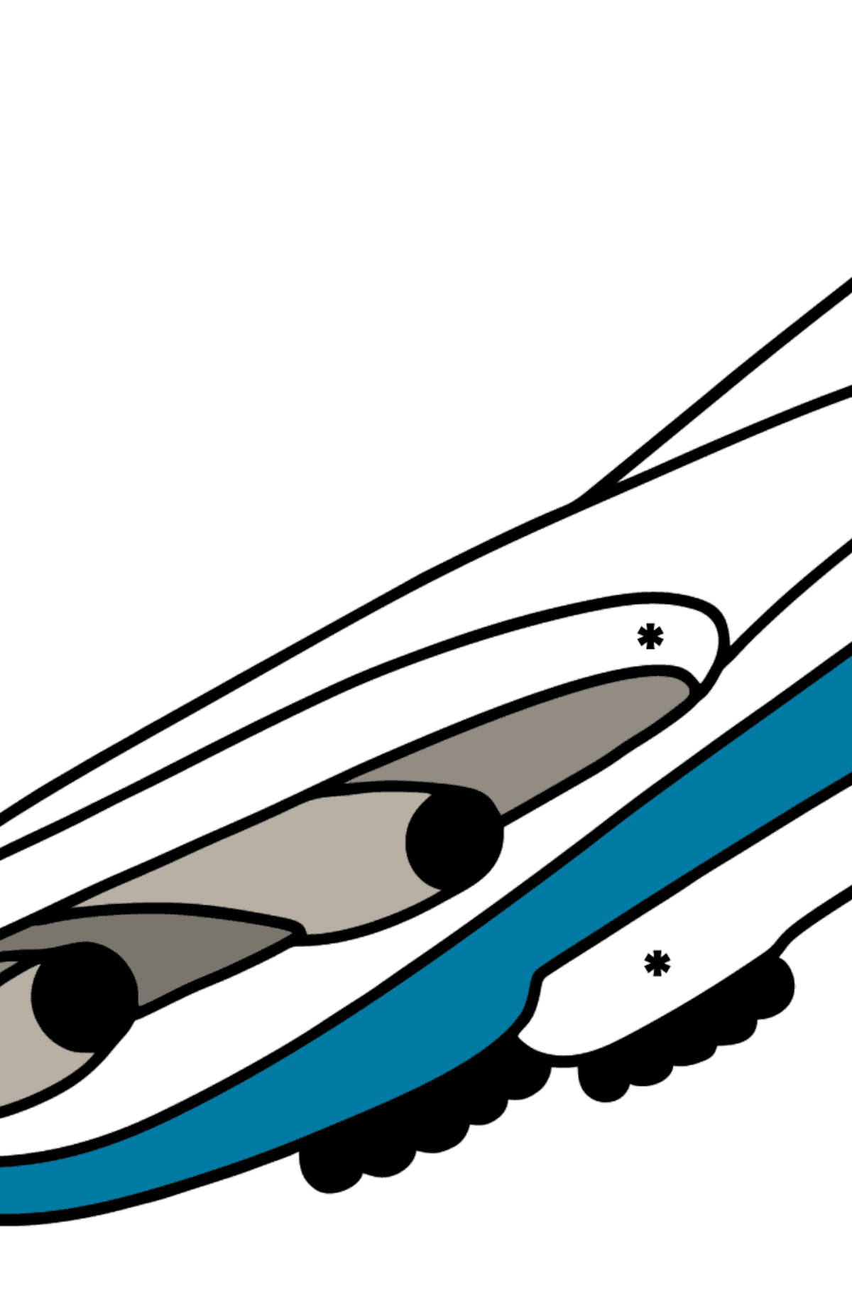 Boeing 747 coloring page - Coloring by Symbols for Kids
