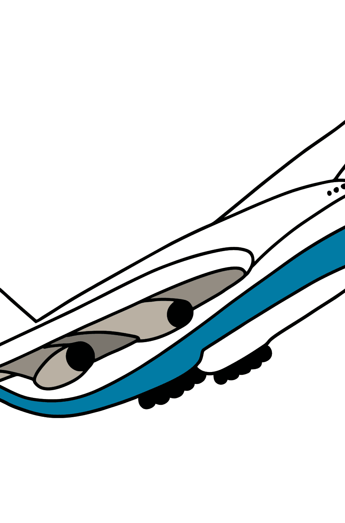 Boeing 747 coloring page - Coloring Pages for Kids