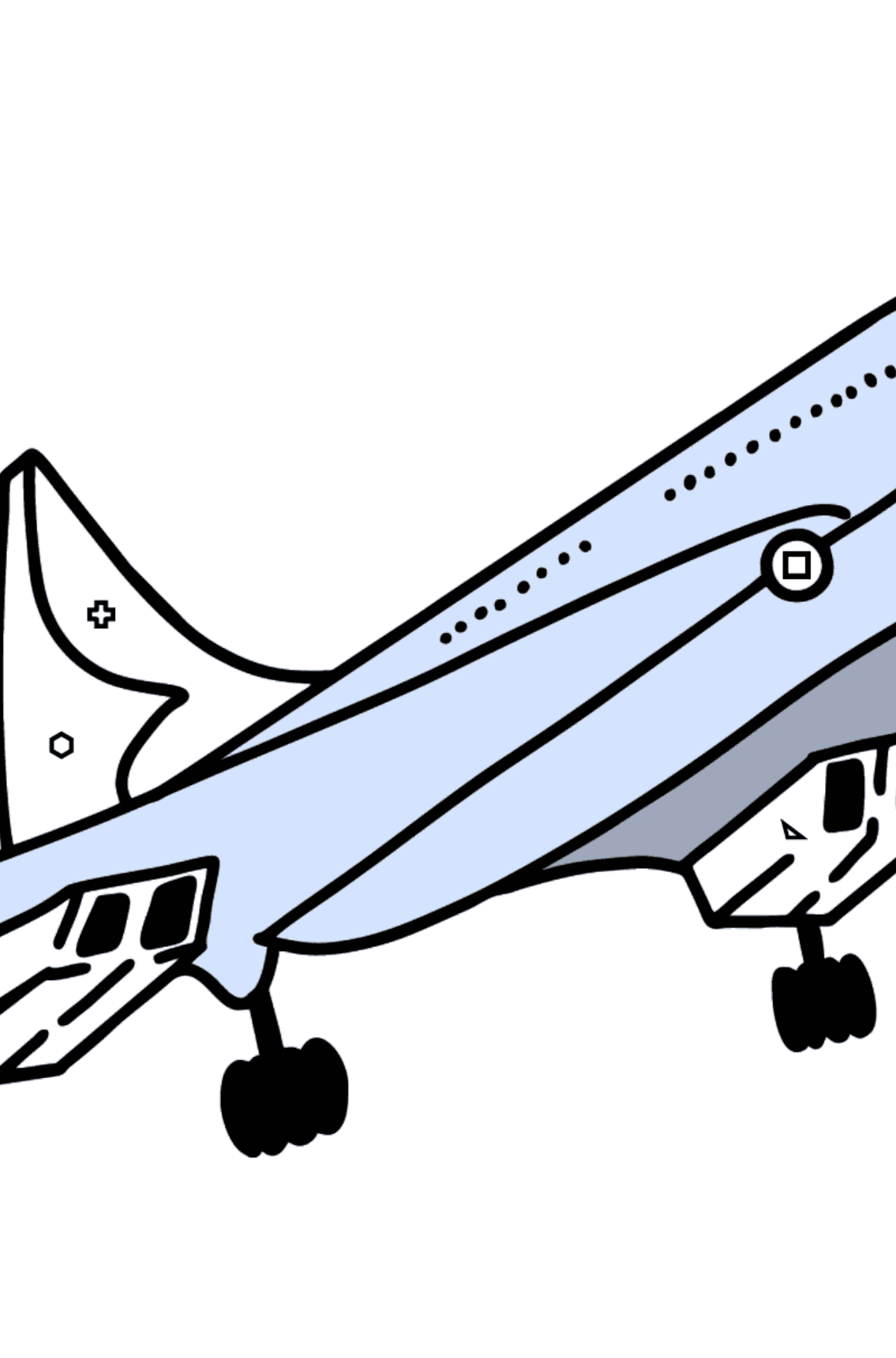 Concorde coloring page - Coloring by Geometric Shapes for Kids
