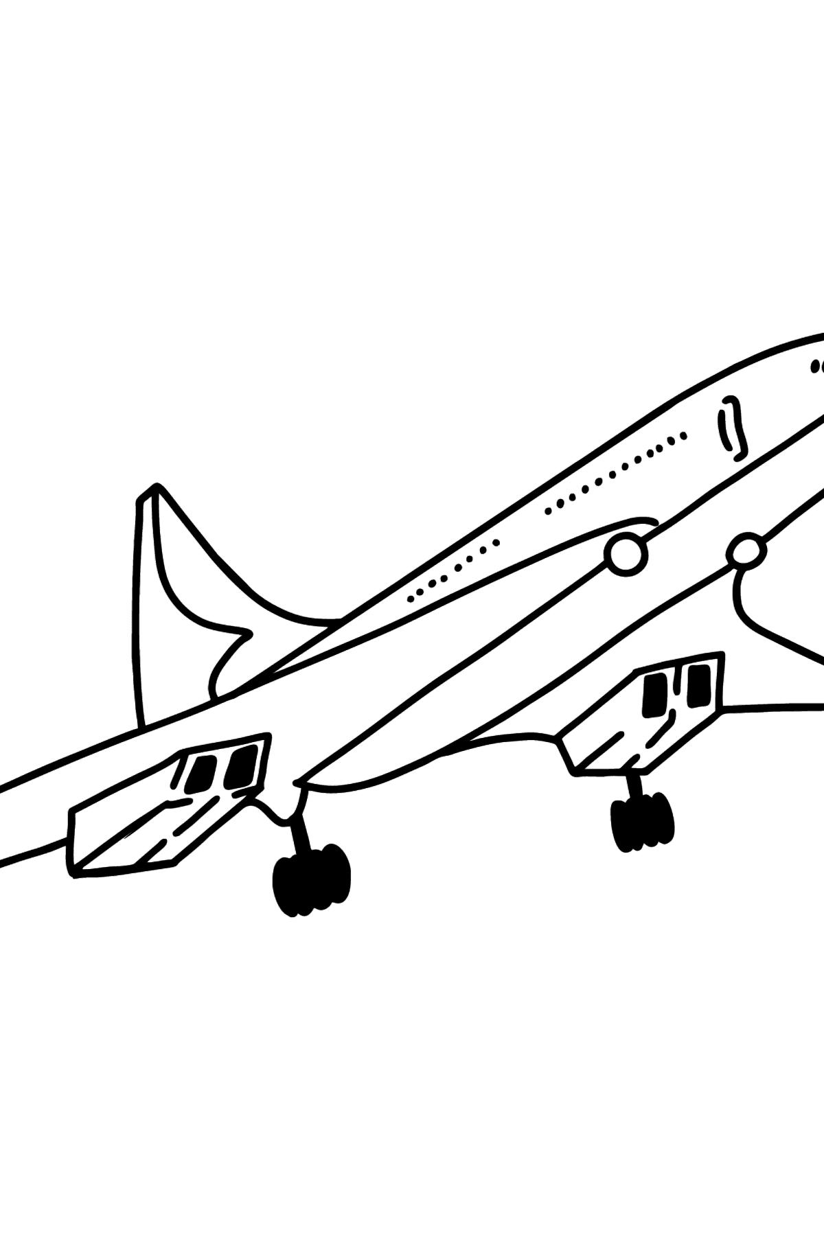 Concorde Ausmalbild - Malvorlagen für Kinder
