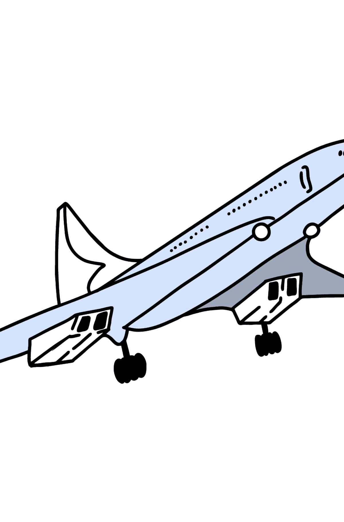Concorde coloring page - Coloring Pages for Kids