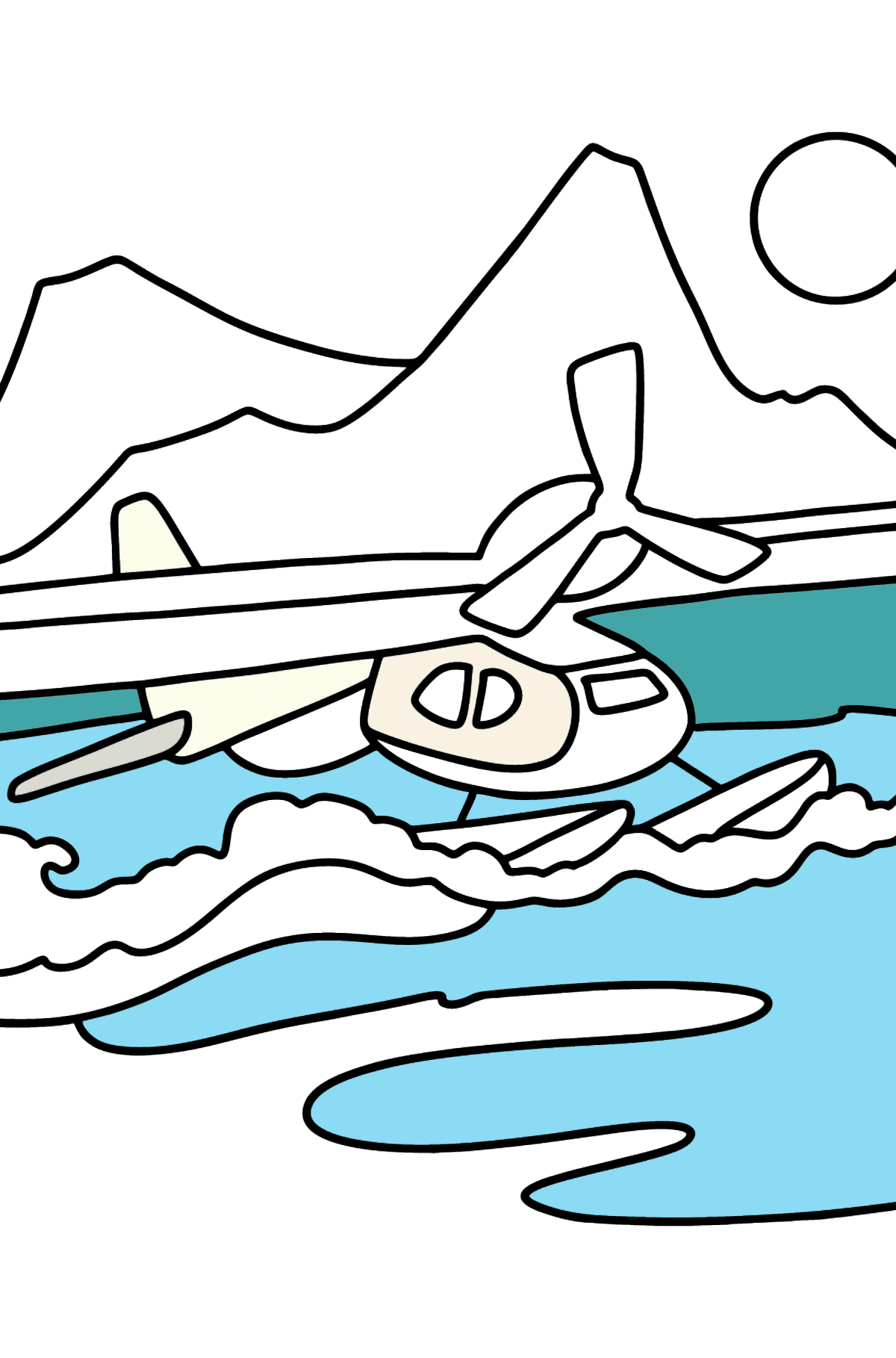 Seaplane coloring page - Coloring Pages for Kids