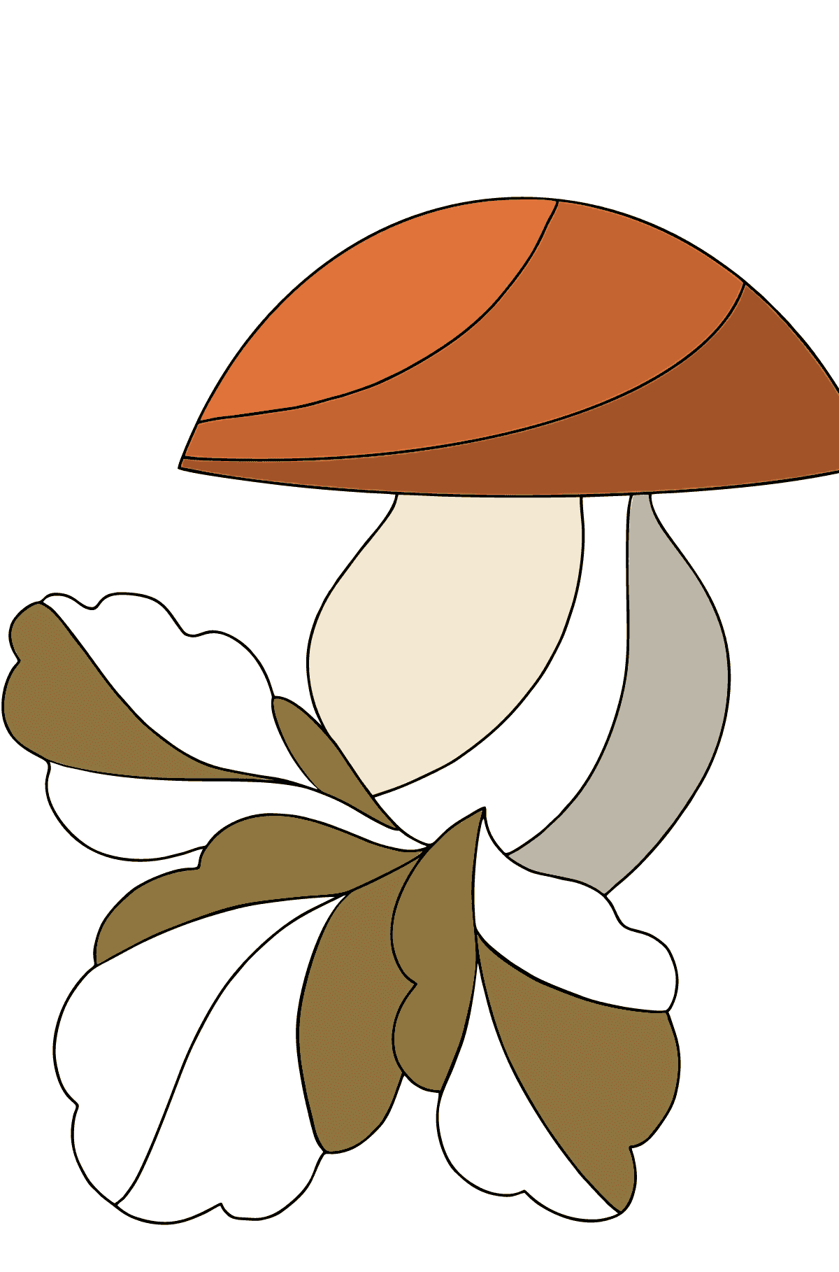 Autumn Coloring Page - Mushroom Harvest Time for Kids
