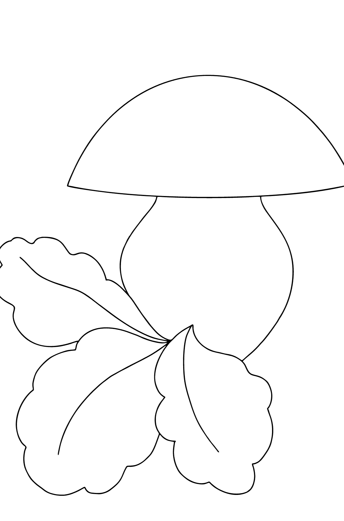 Autumn Coloring Page - Mushroom Season for Kids